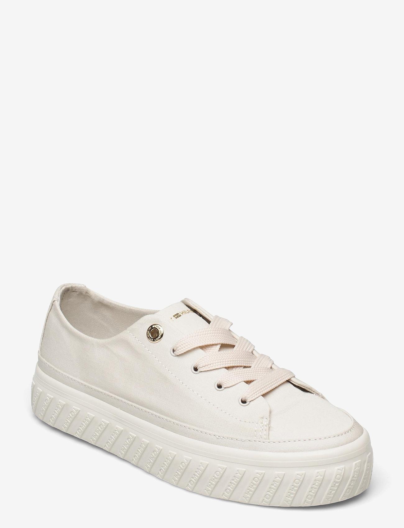 Tommy Hilfiger - SHINY FLATFORM VULC SNEAKER - sneakers - white dove - 0