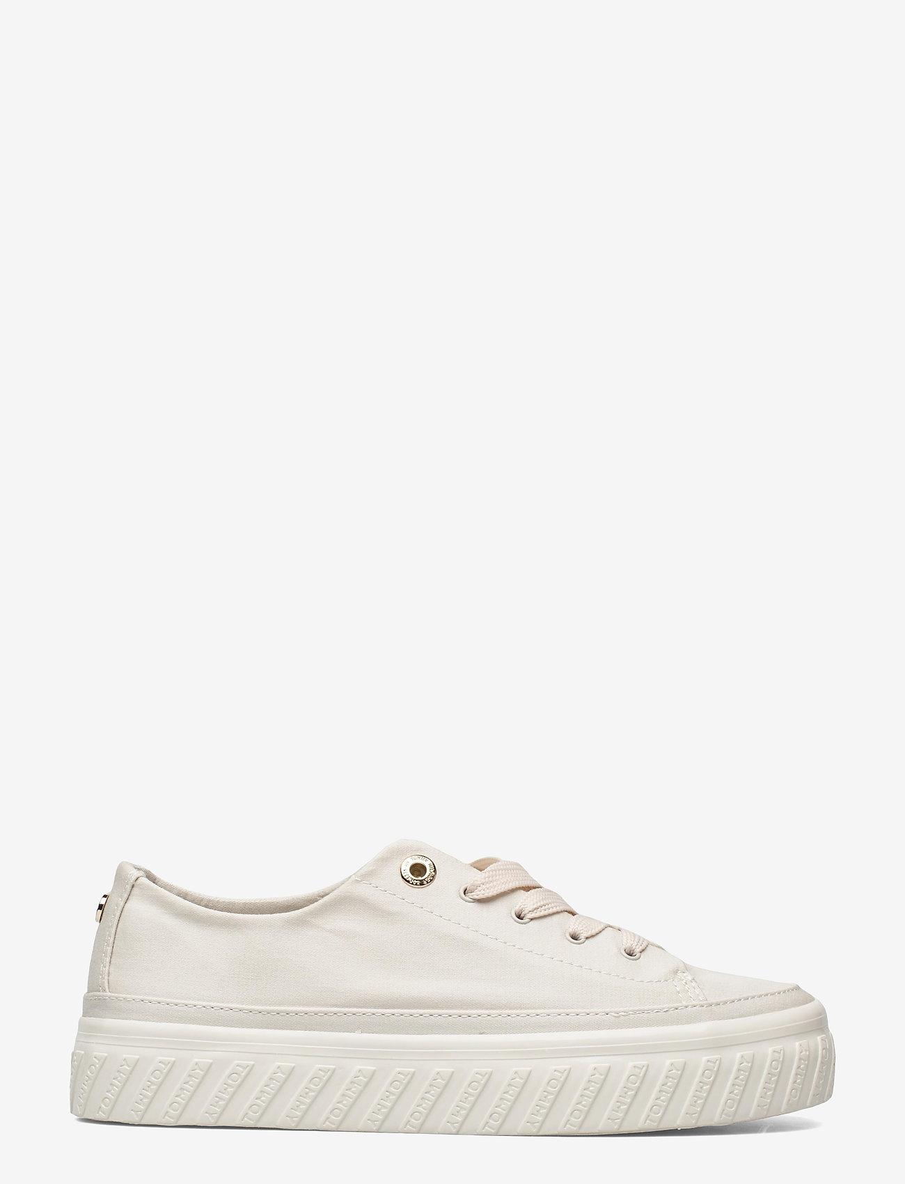 Tommy Hilfiger - SHINY FLATFORM VULC SNEAKER - sneakers - white dove - 1
