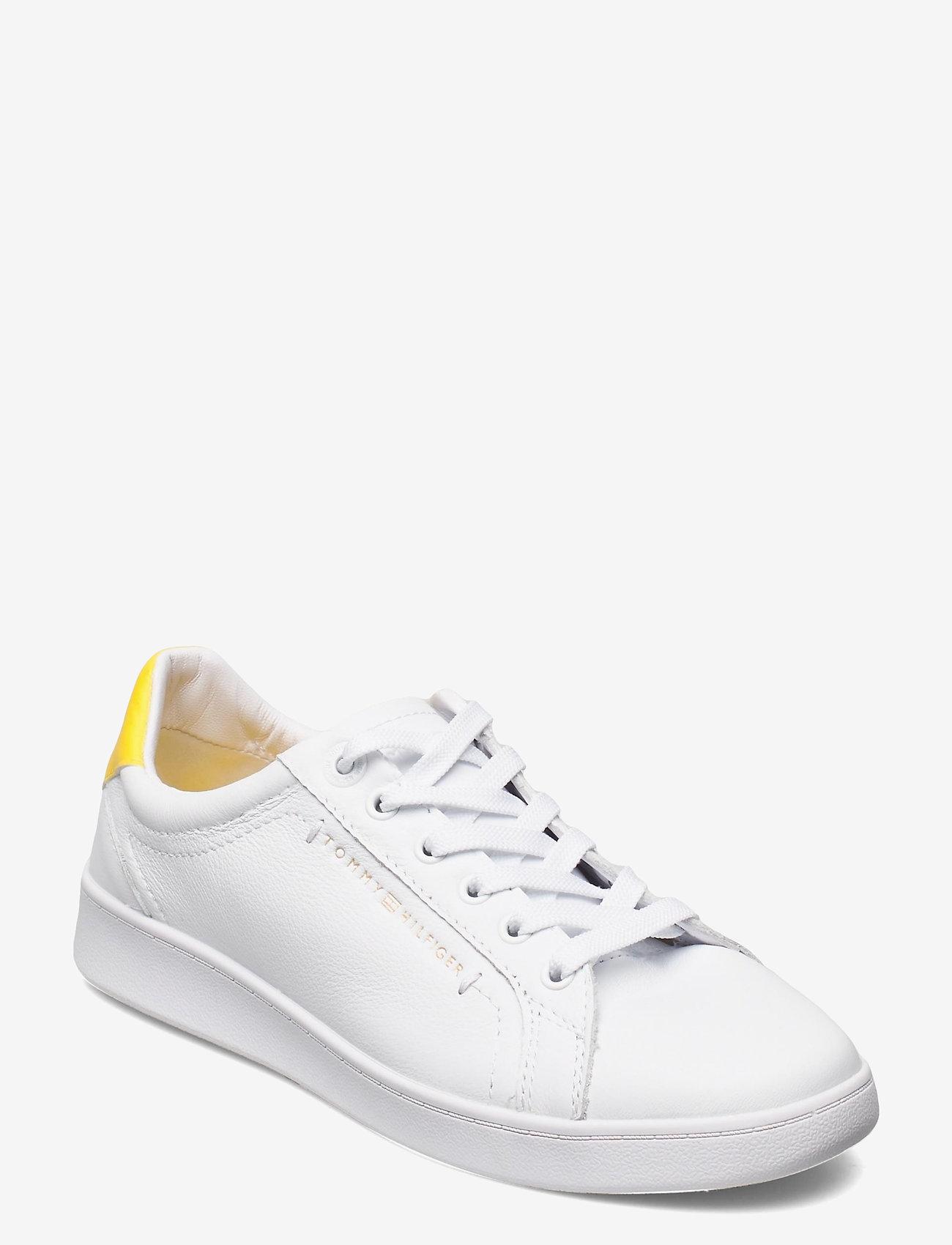 Tommy Hilfiger - PREMIUM COURT SNEAKER - low top sneakers - vivid yellow - 0