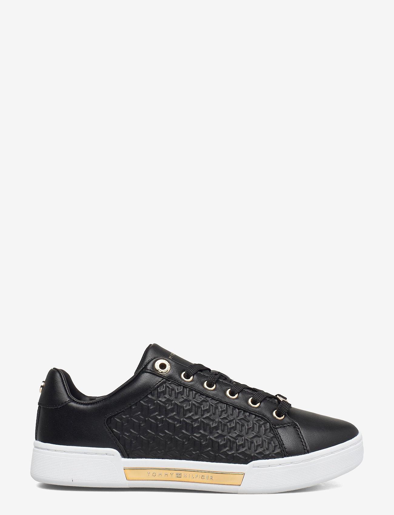 Tommy Hilfiger - TH MONOGRAM ELEVATED SNEAKER - low top sneakers - black - 1
