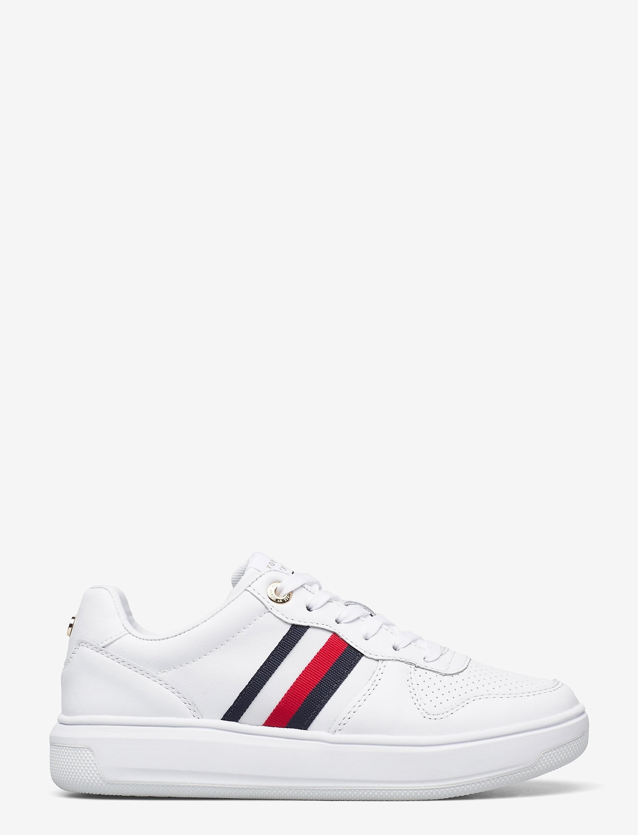 Tommy Hilfiger - TOMMY TAPE LEATHER CUPSOLE - low top sneakers - white - 1