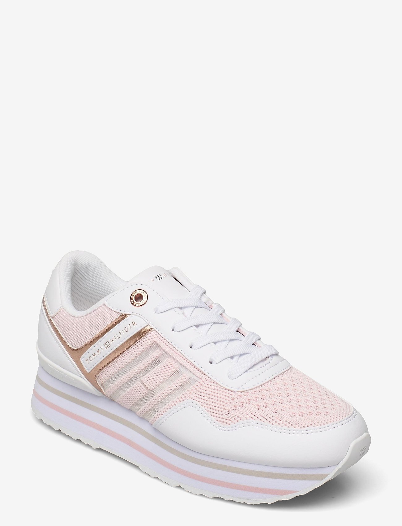 Tommy Hilfiger - KNITTED FLATFORM SNEAKER - low top sneakers - light pink - 0
