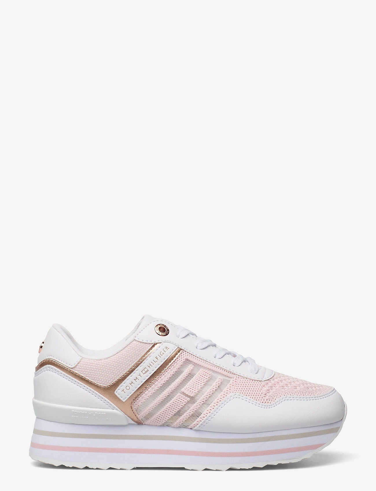 Tommy Hilfiger - KNITTED FLATFORM SNEAKER - low top sneakers - light pink - 1