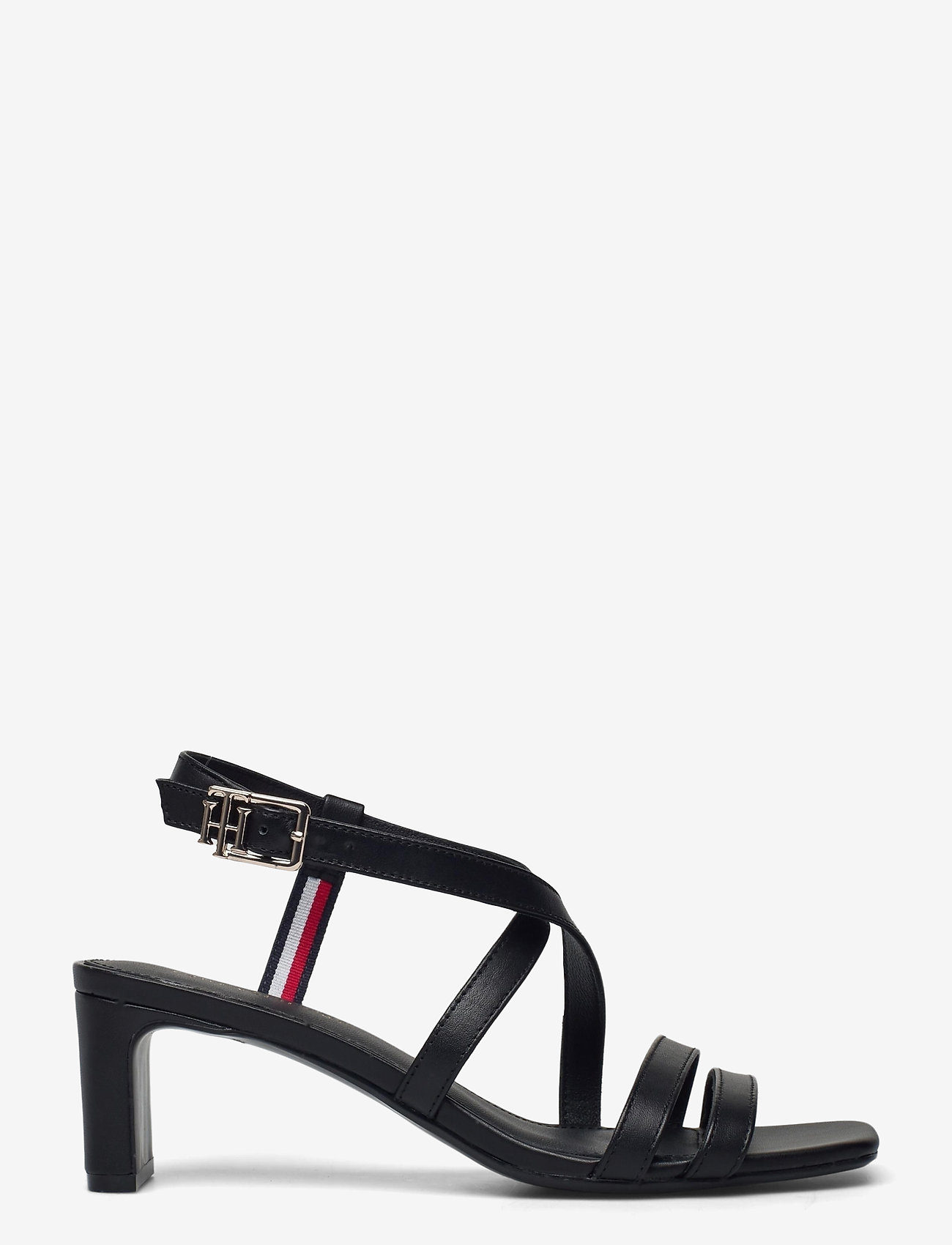 Tommy Hilfiger - TH INTERLOCK SQUARE TOE SANDAL - heeled sandals - black - 1