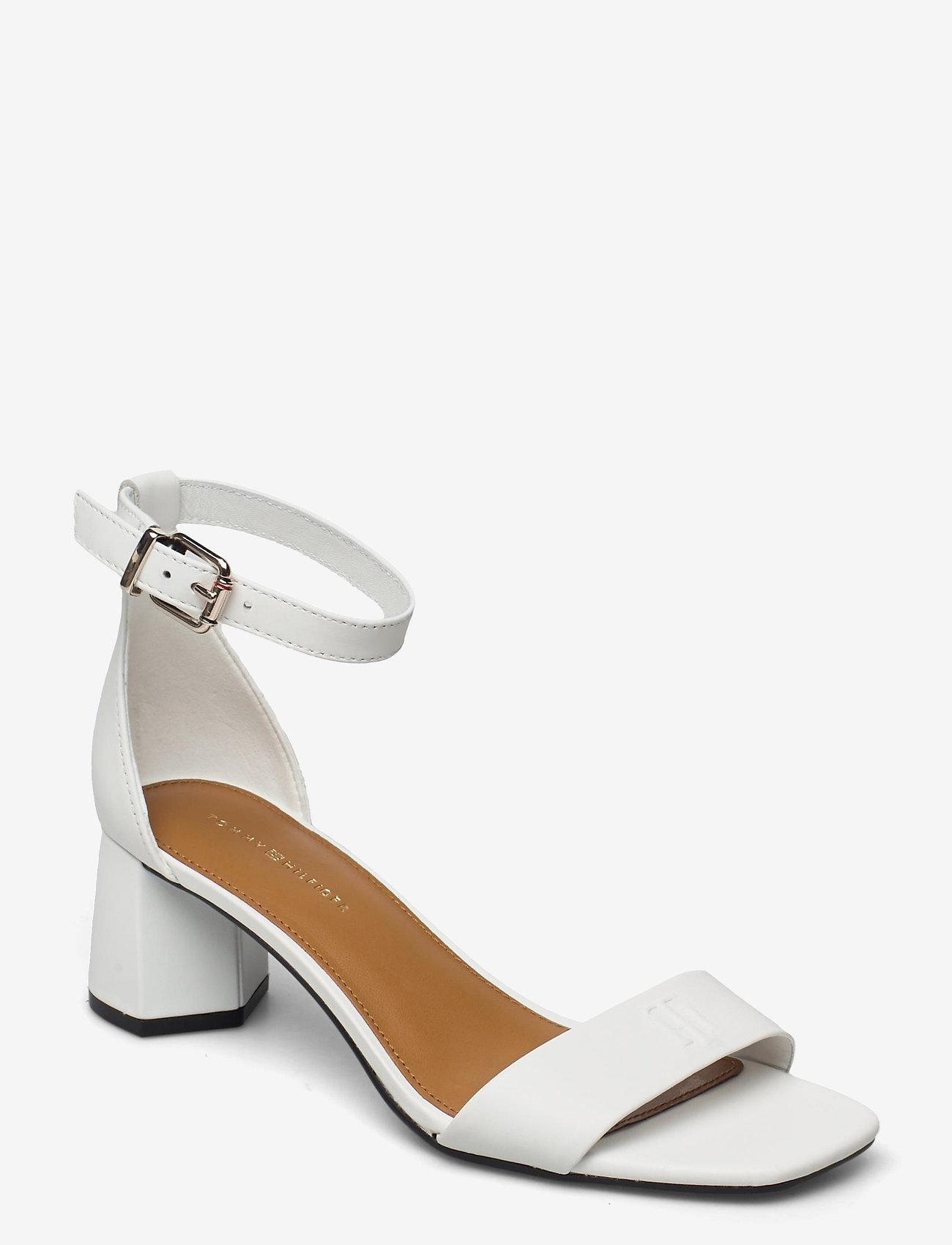 Tommy Hilfiger - ESSENTIAL MID HEEL SANDAL - heeled sandals - ecru - 0