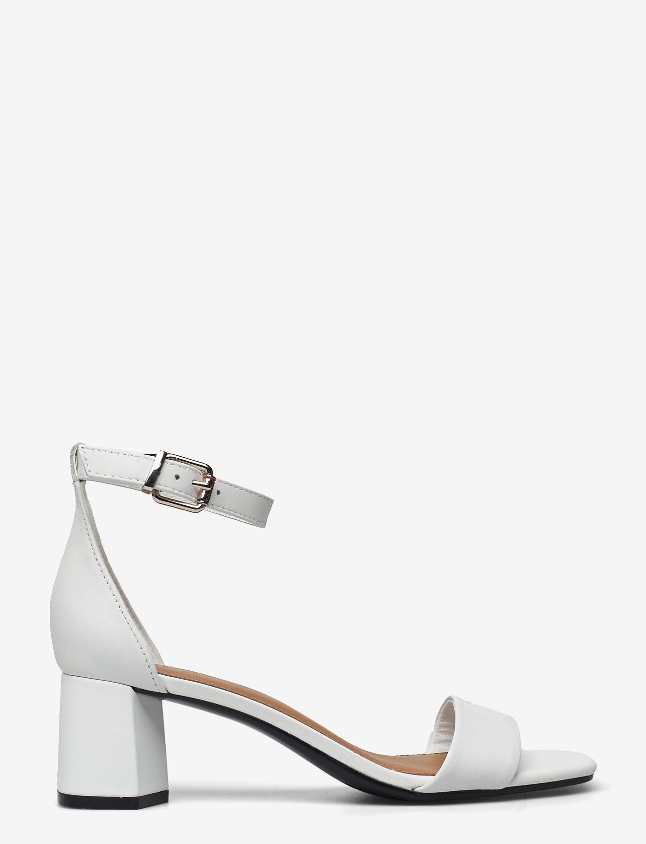 Tommy Hilfiger - ESSENTIAL MID HEEL SANDAL - heeled sandals - ecru - 1