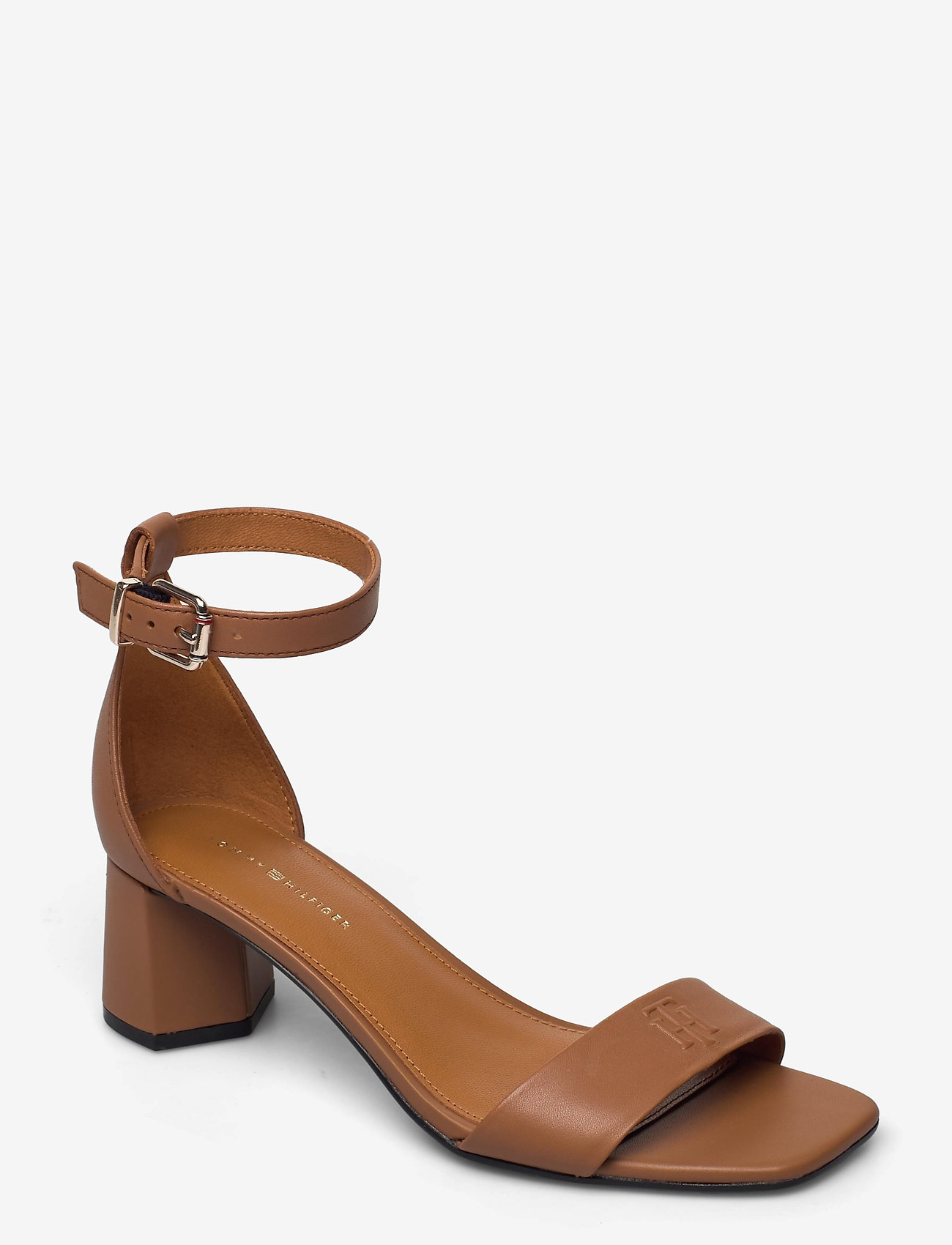 Tommy Hilfiger - ESSENTIAL MID HEEL SANDAL - heeled sandals - summer cognac - 0