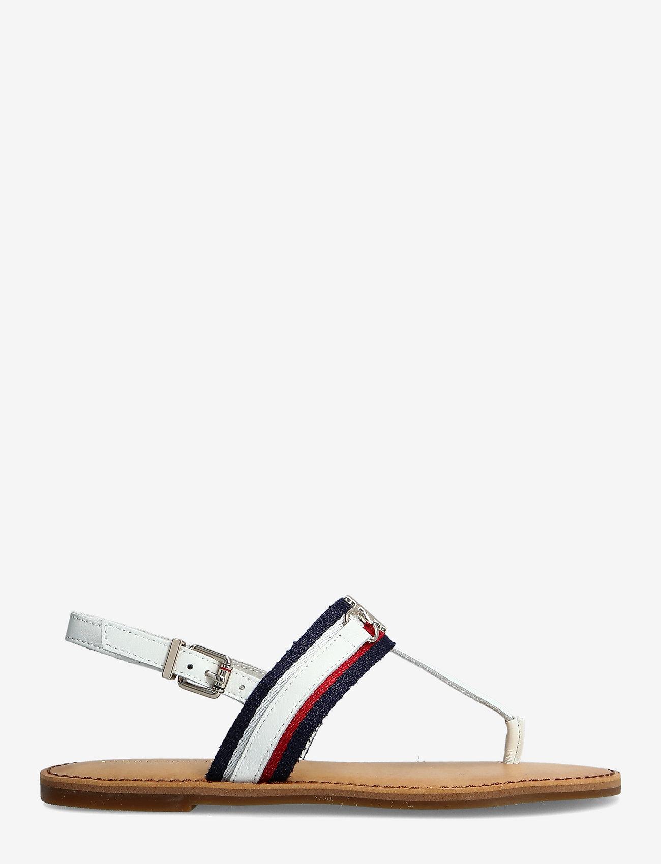 Tommy Hilfiger - SHIMMERY RIBBON FLAT SANDAL - flat sandals - ecru - 1