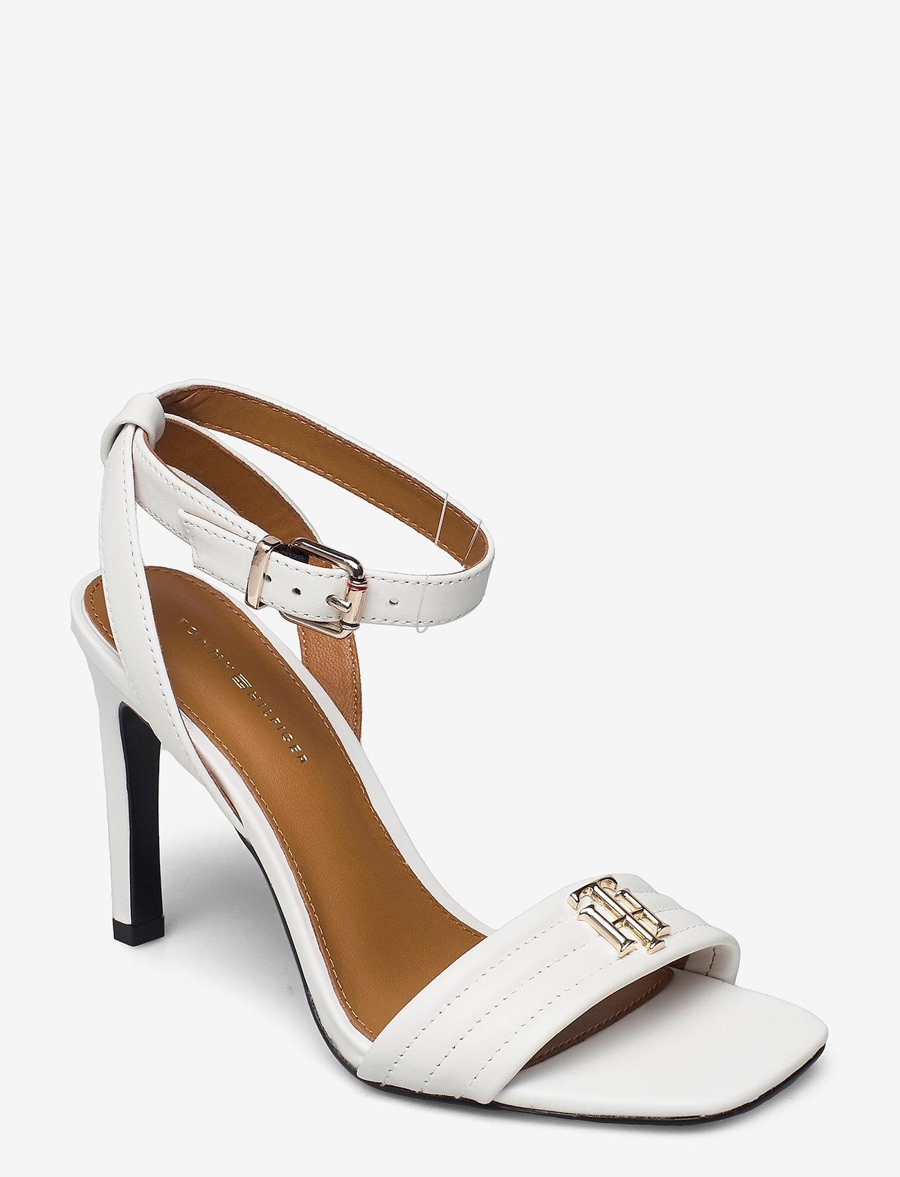 Tommy Hilfiger - TOMMY PADDED HIGH HEEL SANDAL - heeled sandals - ecru - 0