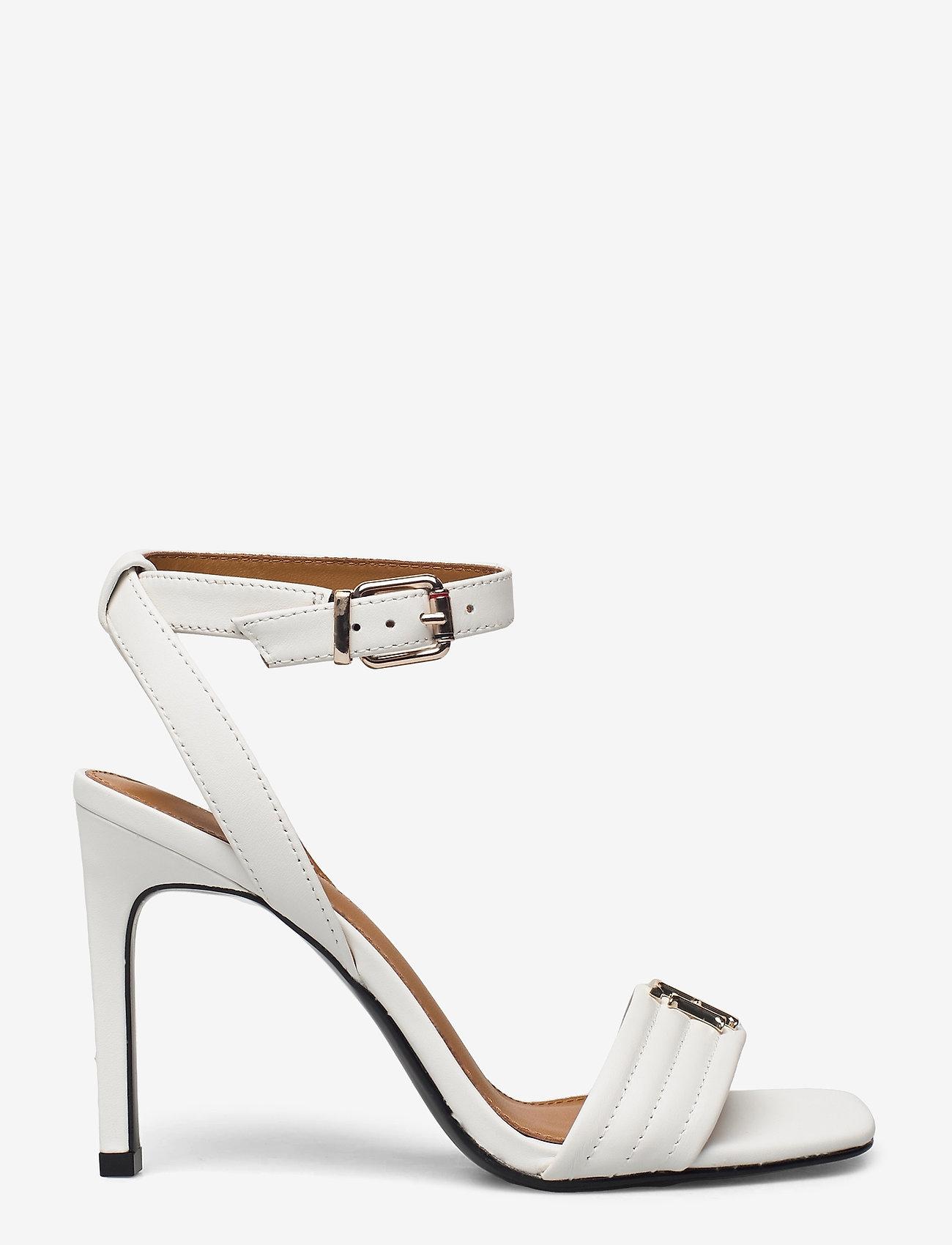 Tommy Hilfiger - TOMMY PADDED HIGH HEEL SANDAL - heeled sandals - ecru - 1