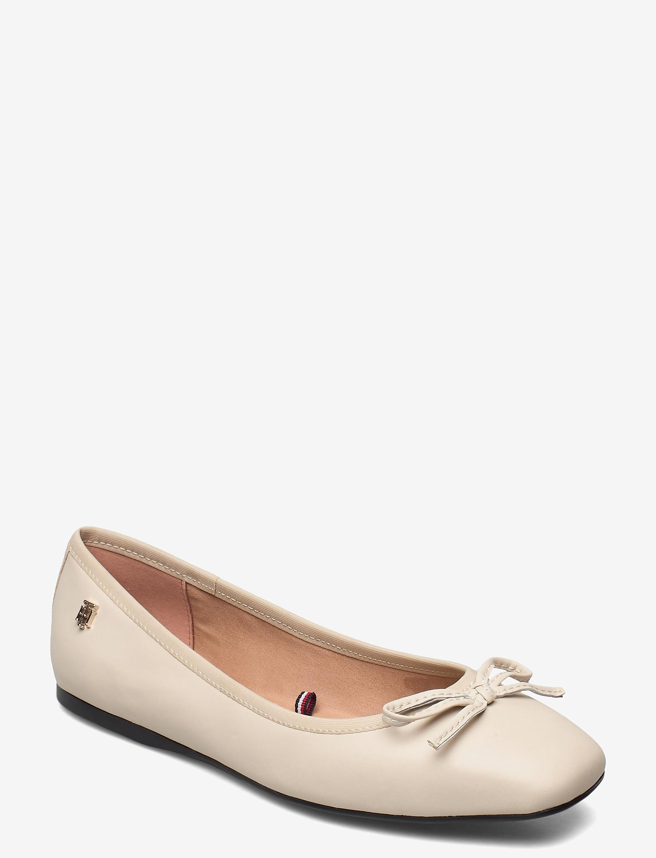 Tommy Hilfiger - ESSENTIAL SQUARE TOE BALLERINA - ballerinas - classic beige - 0