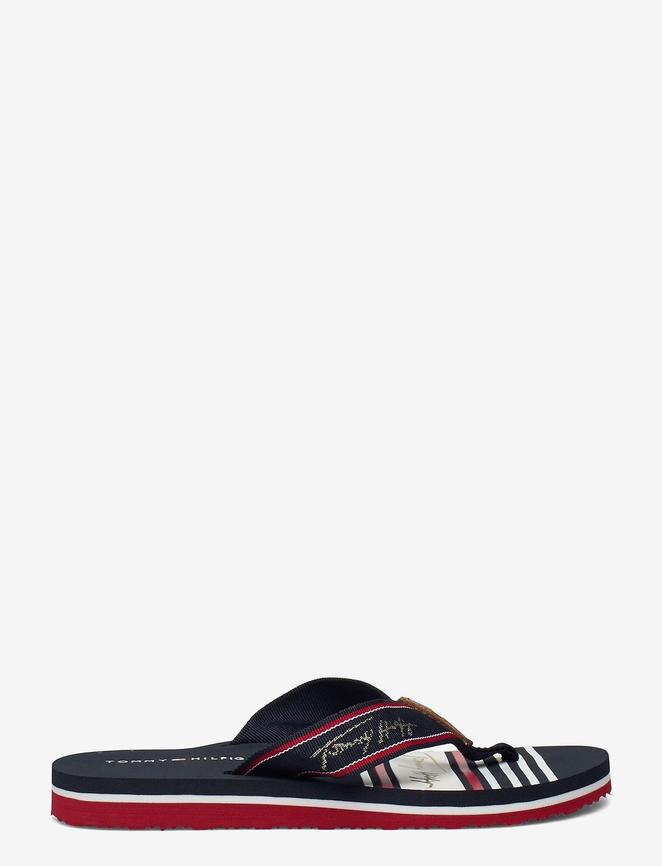 Tommy Hilfiger - TOMMY SIGNATURE BEACH SANDAL - flat sandals - rwb - 1