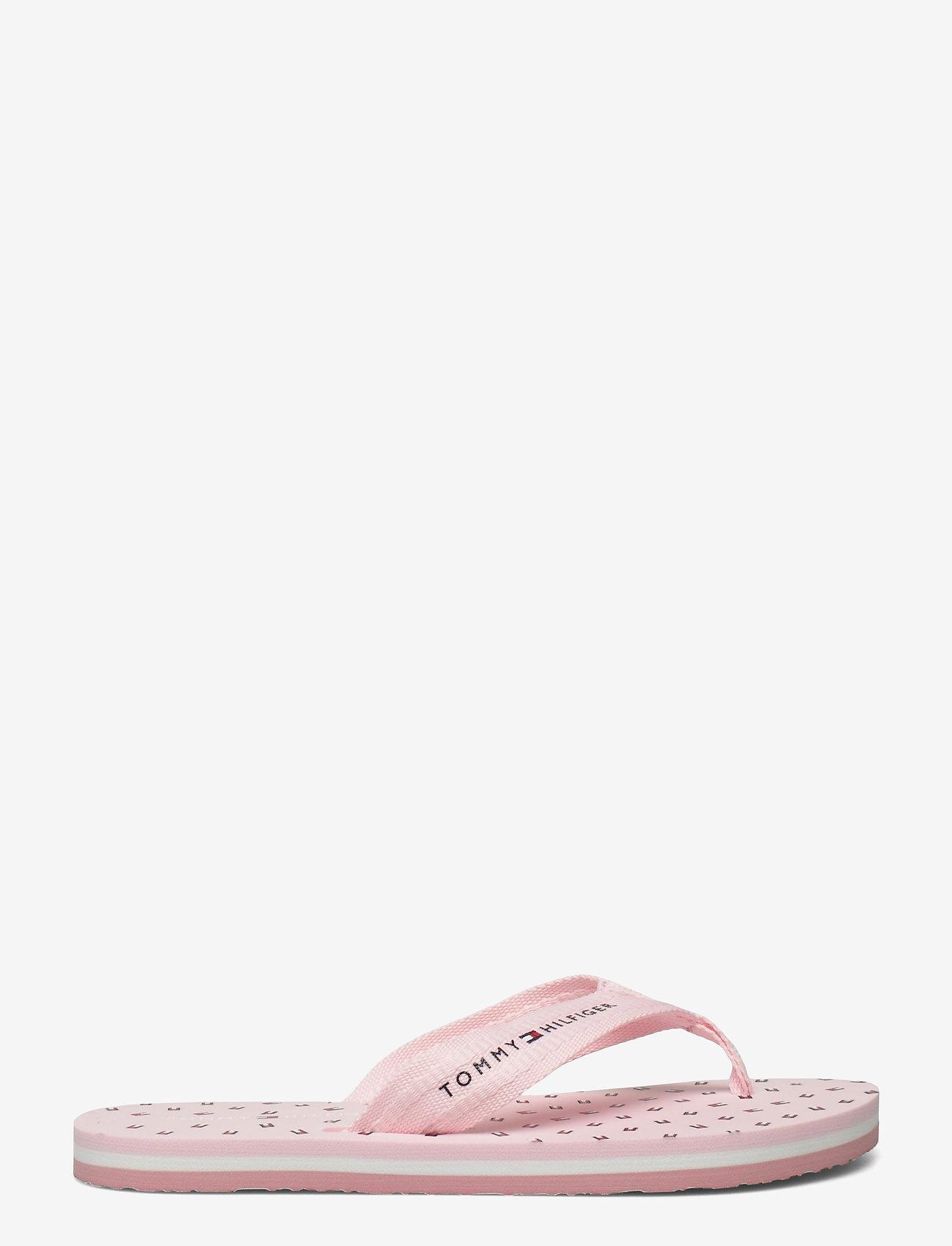Tommy Hilfiger - TH MINI FLAGS BEACH SANDAL - flat sandals - light pink - 1