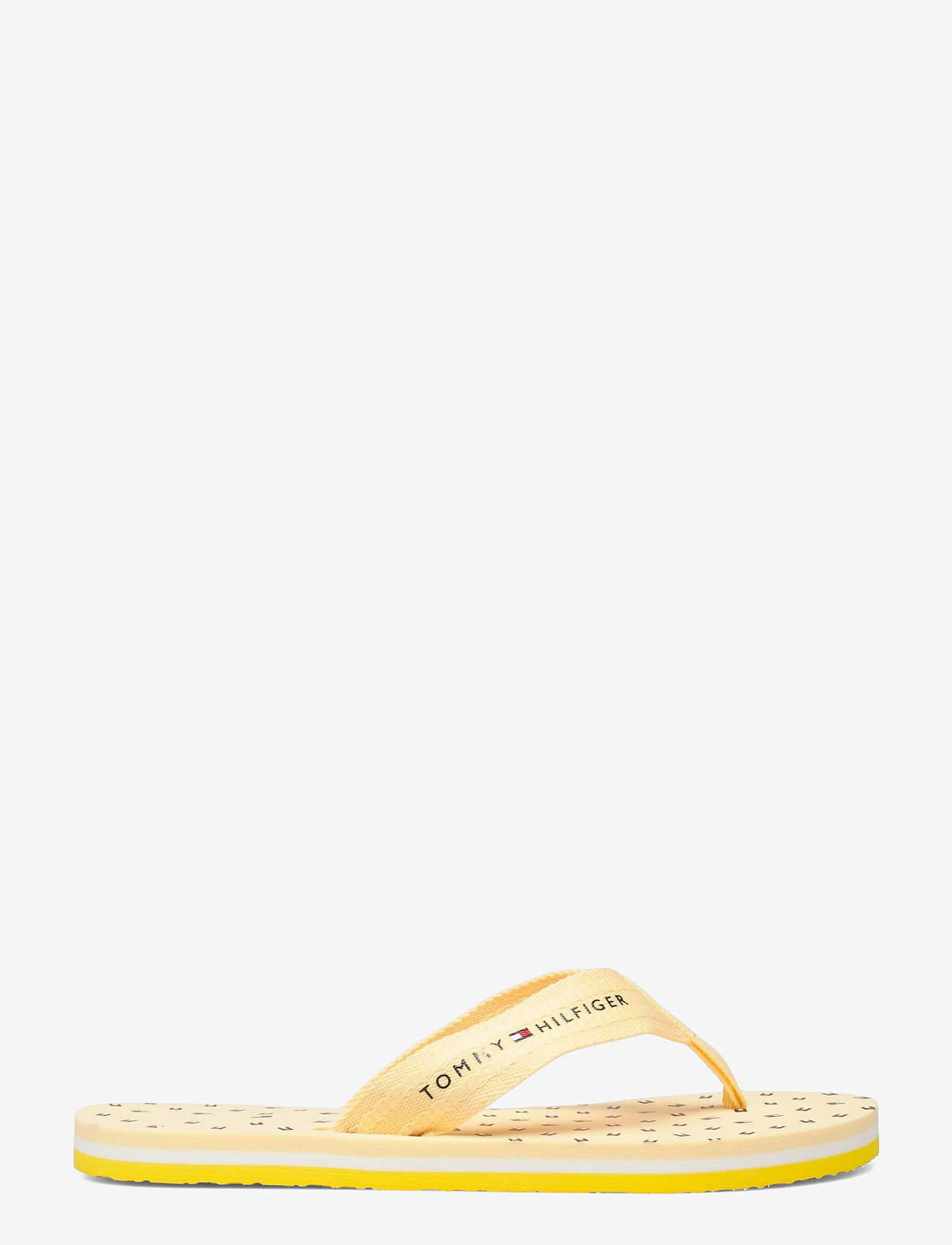 Tommy Hilfiger - TH MINI FLAGS BEACH SANDAL - flat sandals - vivid yellow - 1