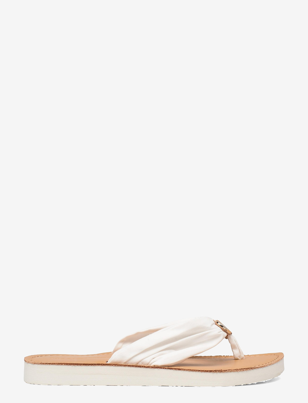 Tommy Hilfiger - LEATHER FOOTBED BEACH SANDAL - flat sandals - ivory - 1