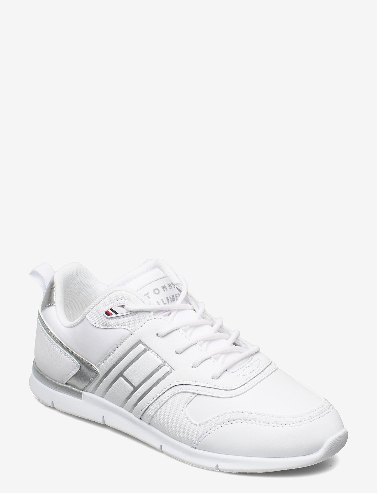 Tommy Hilfiger - METALLIC LIGHTWEIGHT SNEAKER - low top sneakers - white - 0