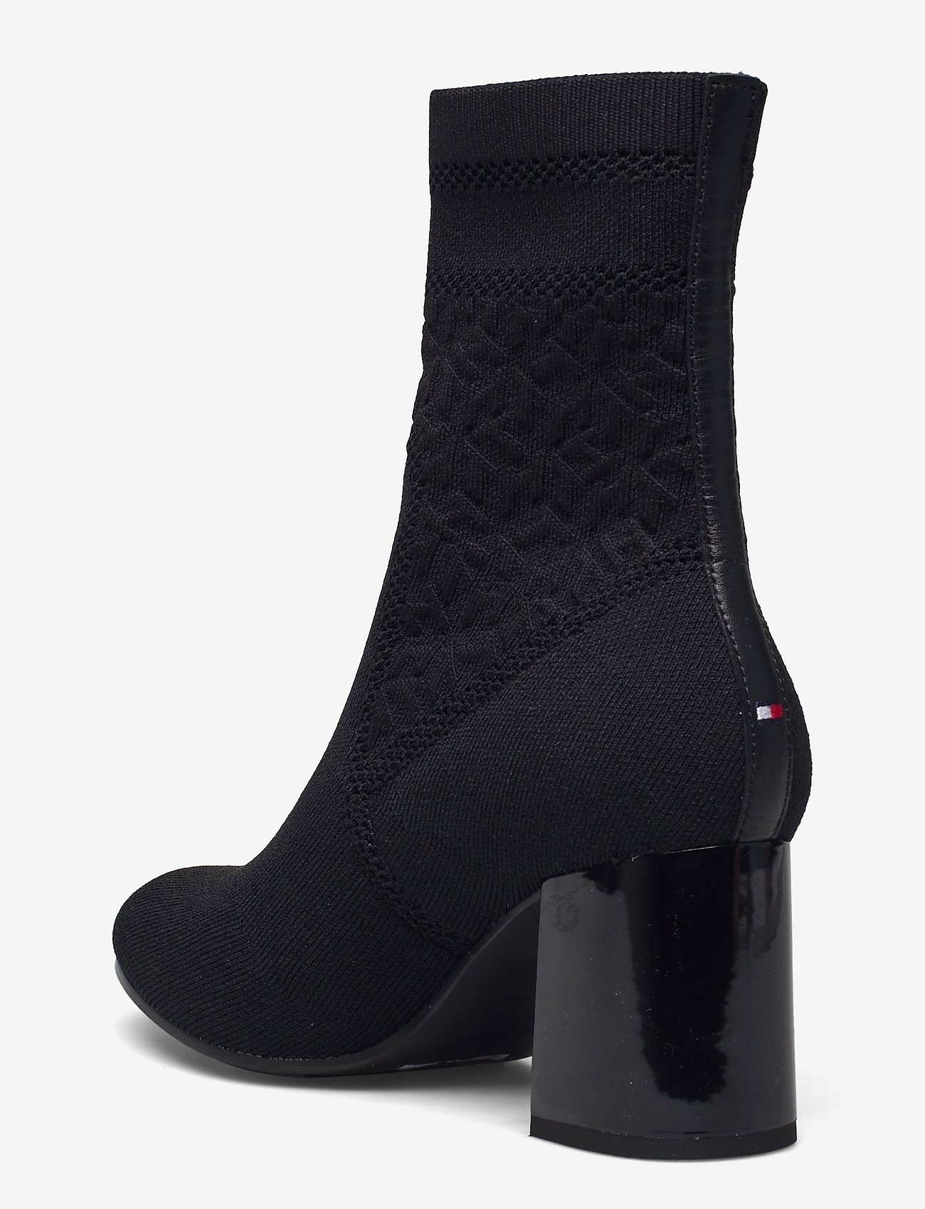 Tommy Hilfiger - TH KNITTED MID HEEL BOOT - wysoki obcas - black - 2