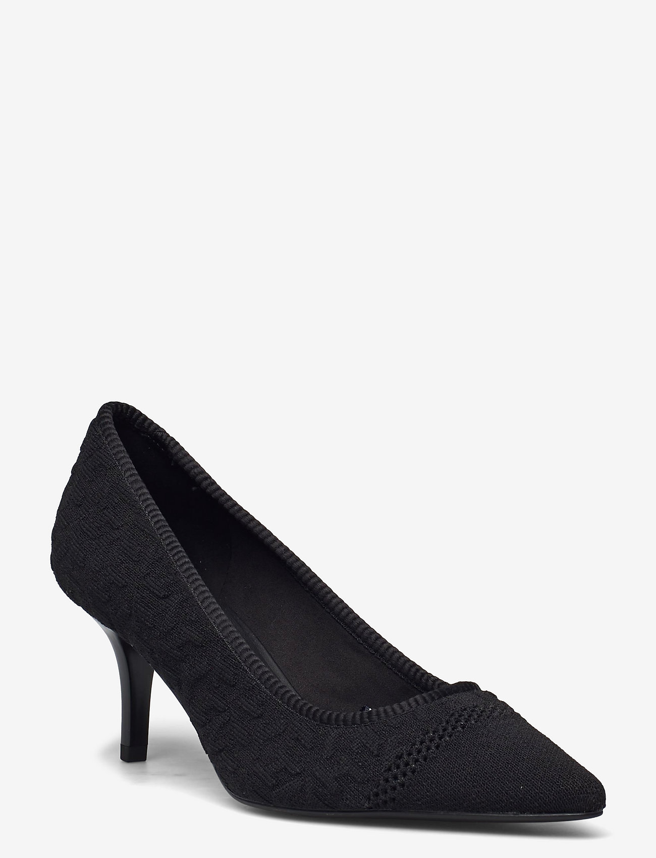 Tommy Hilfiger - TH KNITTED MID HEEL PUMP - classic pumps - black - 0