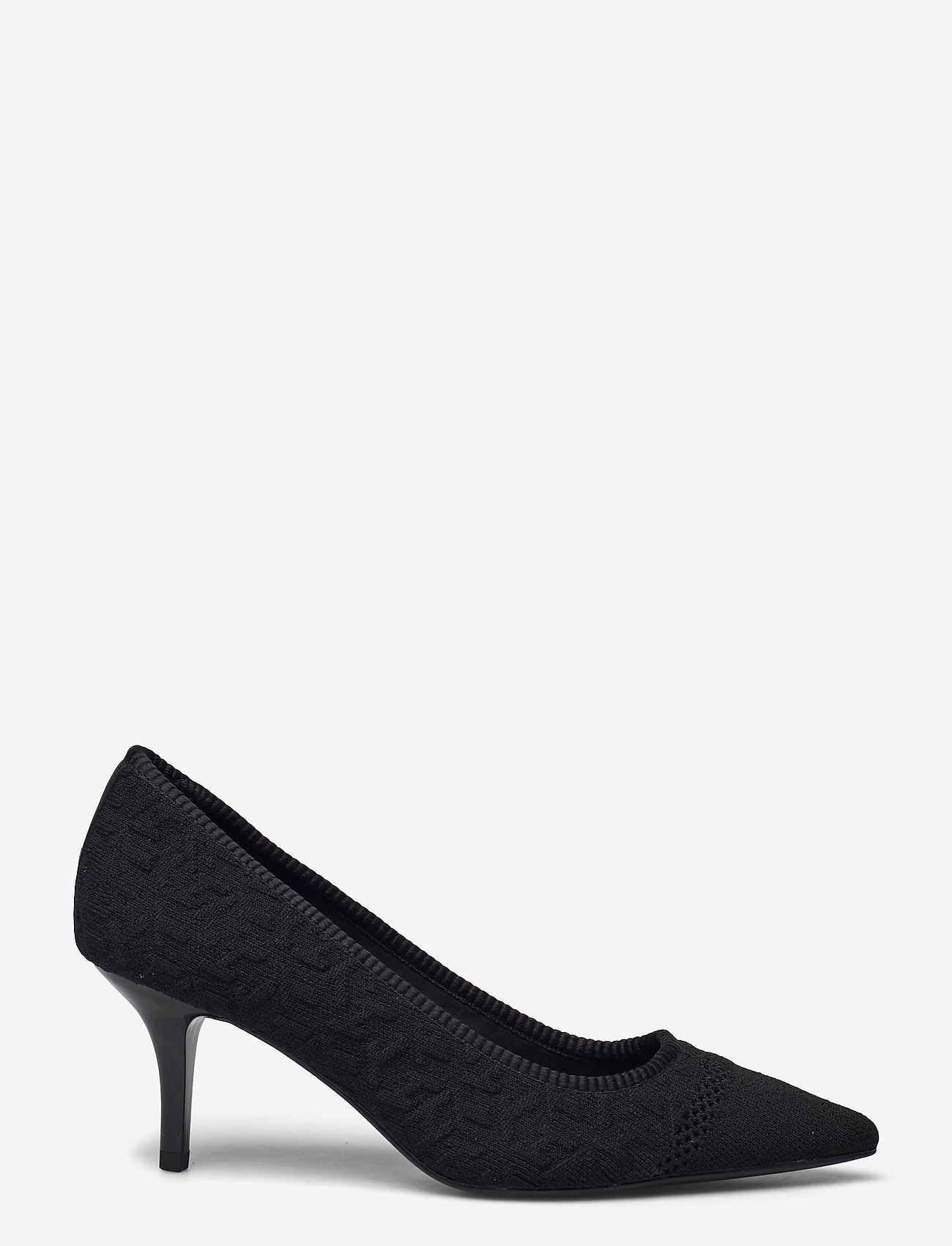 Tommy Hilfiger - TH KNITTED MID HEEL PUMP - classic pumps - black - 1