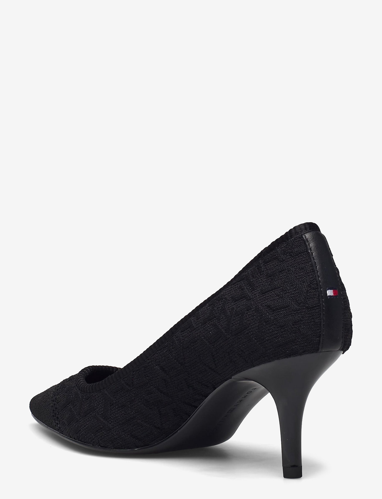Tommy Hilfiger - TH KNITTED MID HEEL PUMP - classic pumps - black - 2