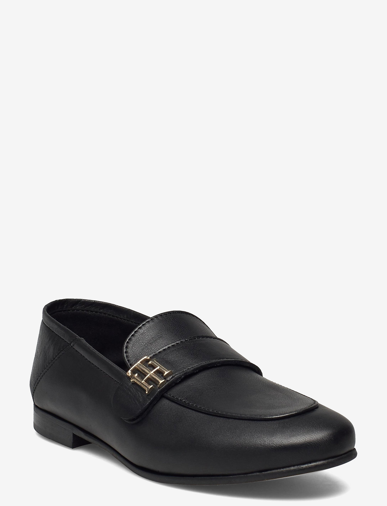 Tommy Hilfiger - TH ESSENTIALS LEATHER LOAFER - loafers - black - 0