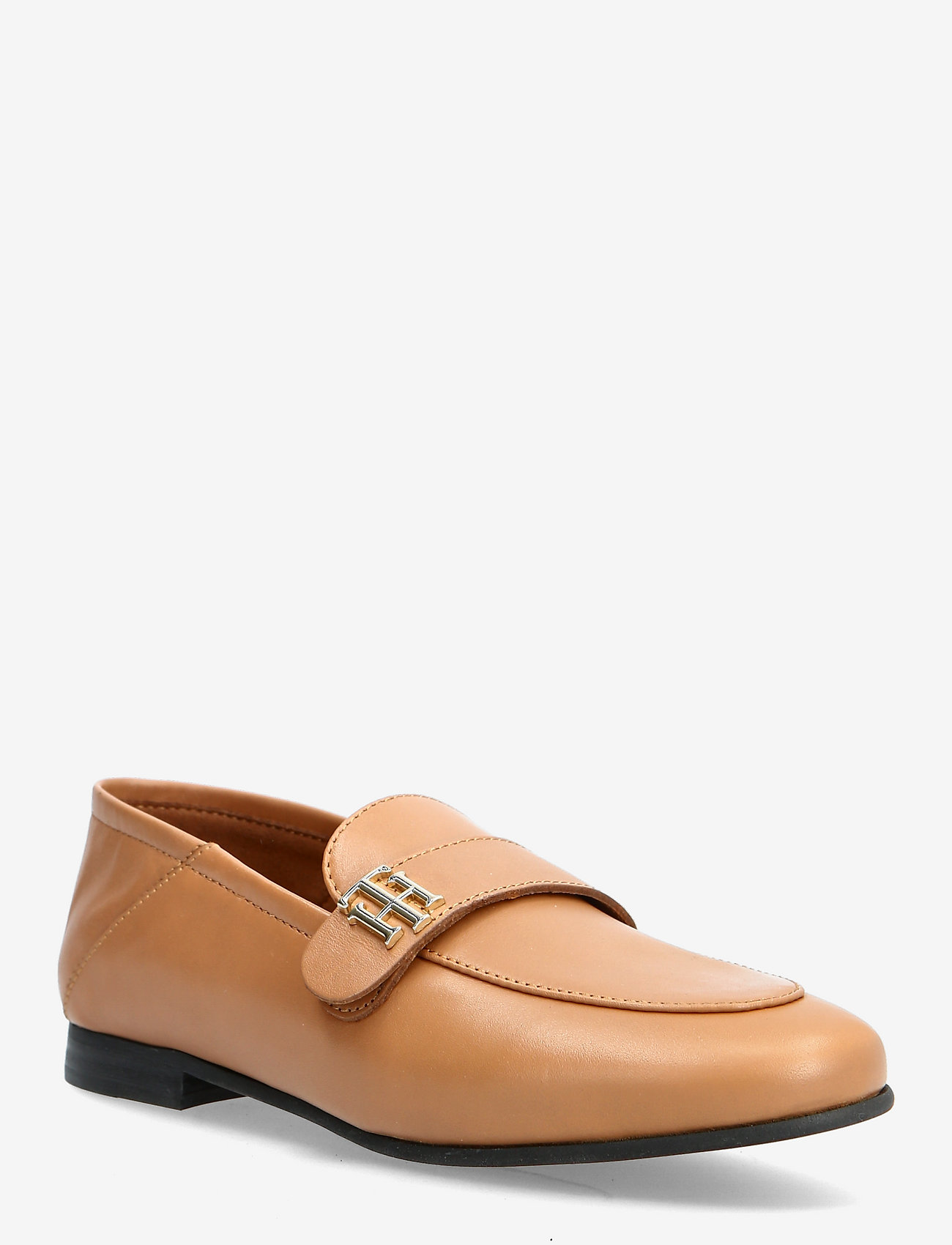 Tommy Hilfiger - TH ESSENTIALS LEATHER LOAFER - loafers - summer cognac - 0