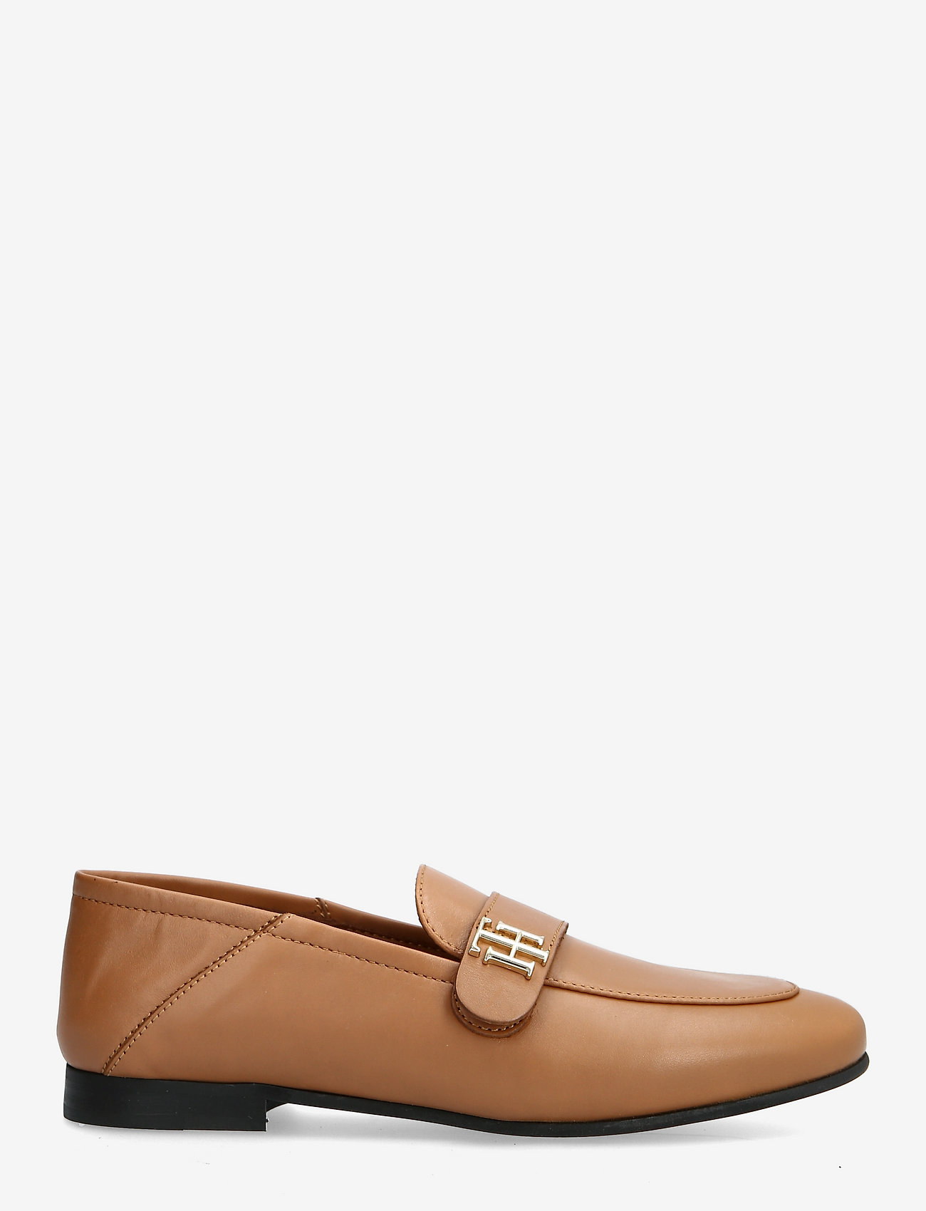 Tommy Hilfiger - TH ESSENTIALS LEATHER LOAFER - loafers - summer cognac - 1