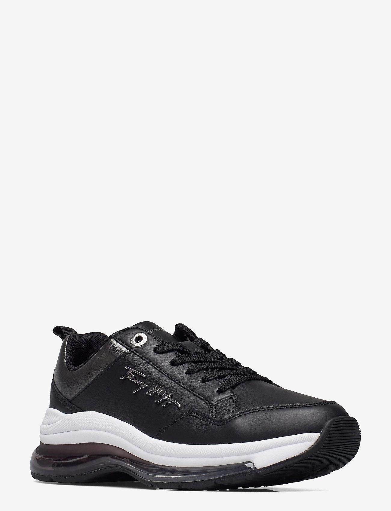 Tommy Hilfiger - CITY AIR RUNNER METALLIC - low top sneakers - black - 1