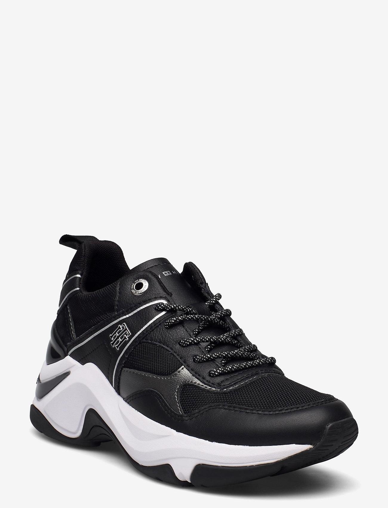 Tommy Hilfiger - FASHION WEDGE SNEAKER - low top sneakers - black - 0