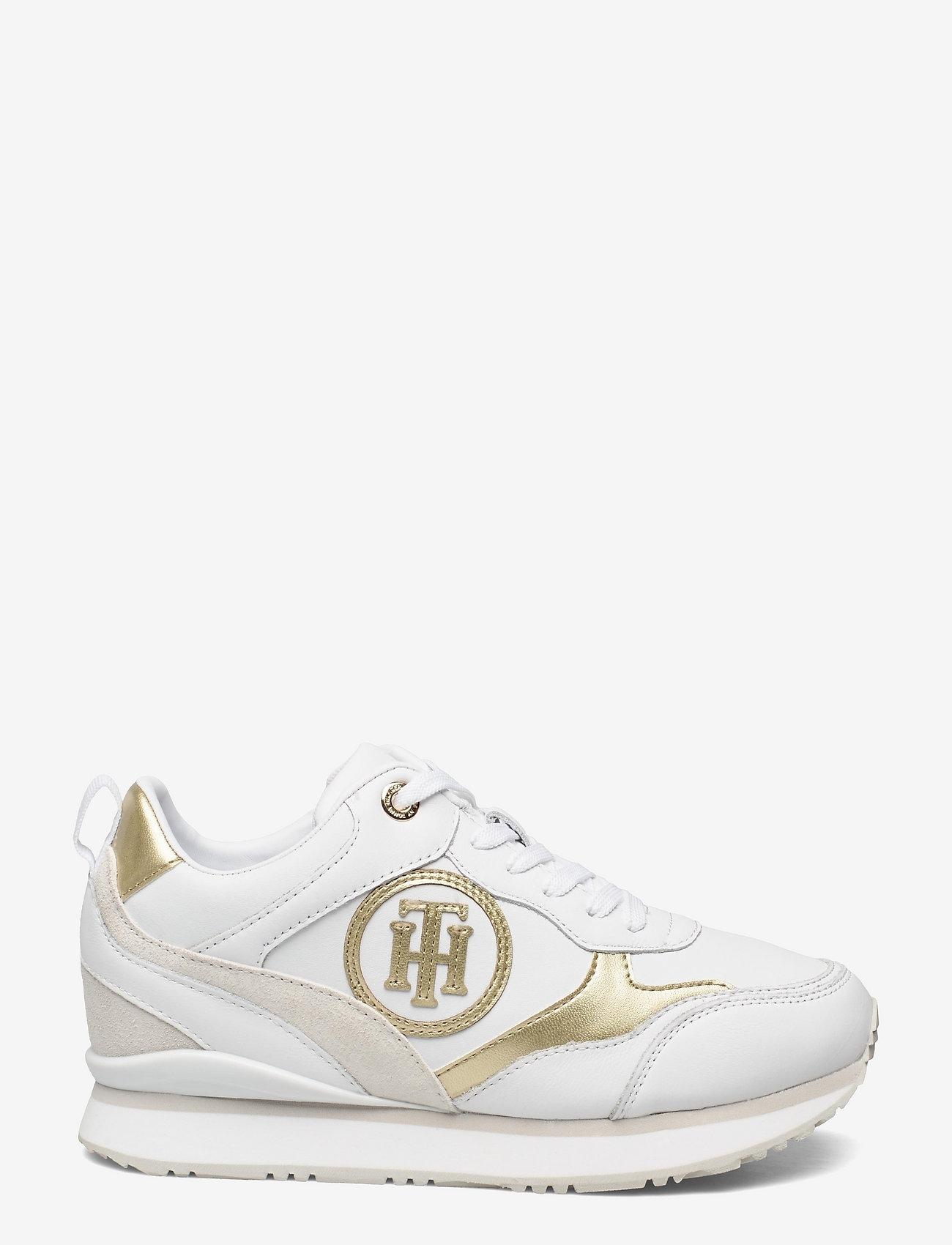 Tommy Hilfiger - METALLIC DRESSY WEDGE SNEAKER - low top sneakers - white - 1