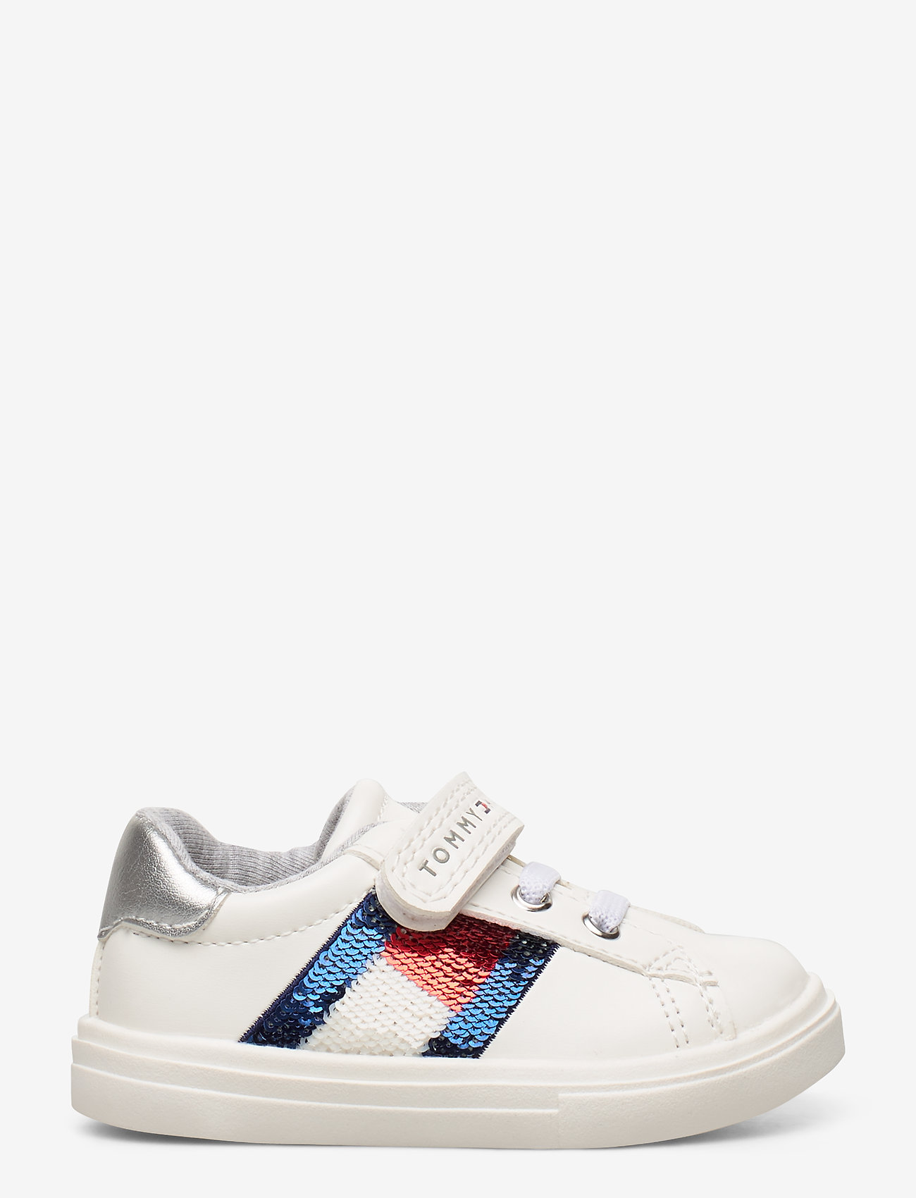 Tommy Hilfiger Low Cut Lace-up/velcro Sneaker - Sneakers Bianco