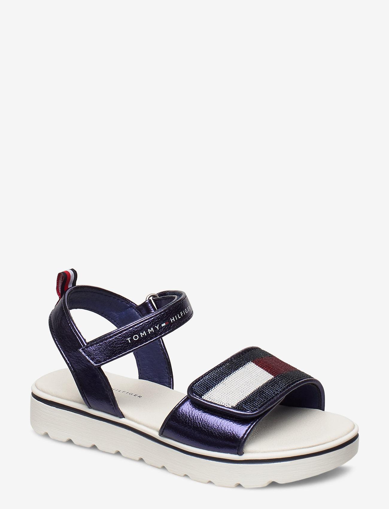 Tommy Hilfiger - VELCRO SANDAL BLUE - sandals - blu - 0