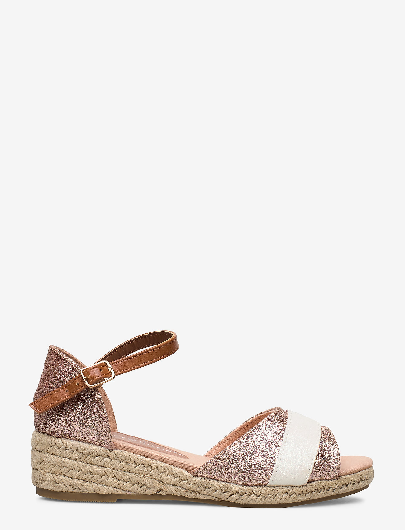 Tommy Hilfiger - ROPE WEDGE SANDAL - sandals - rosa - 1