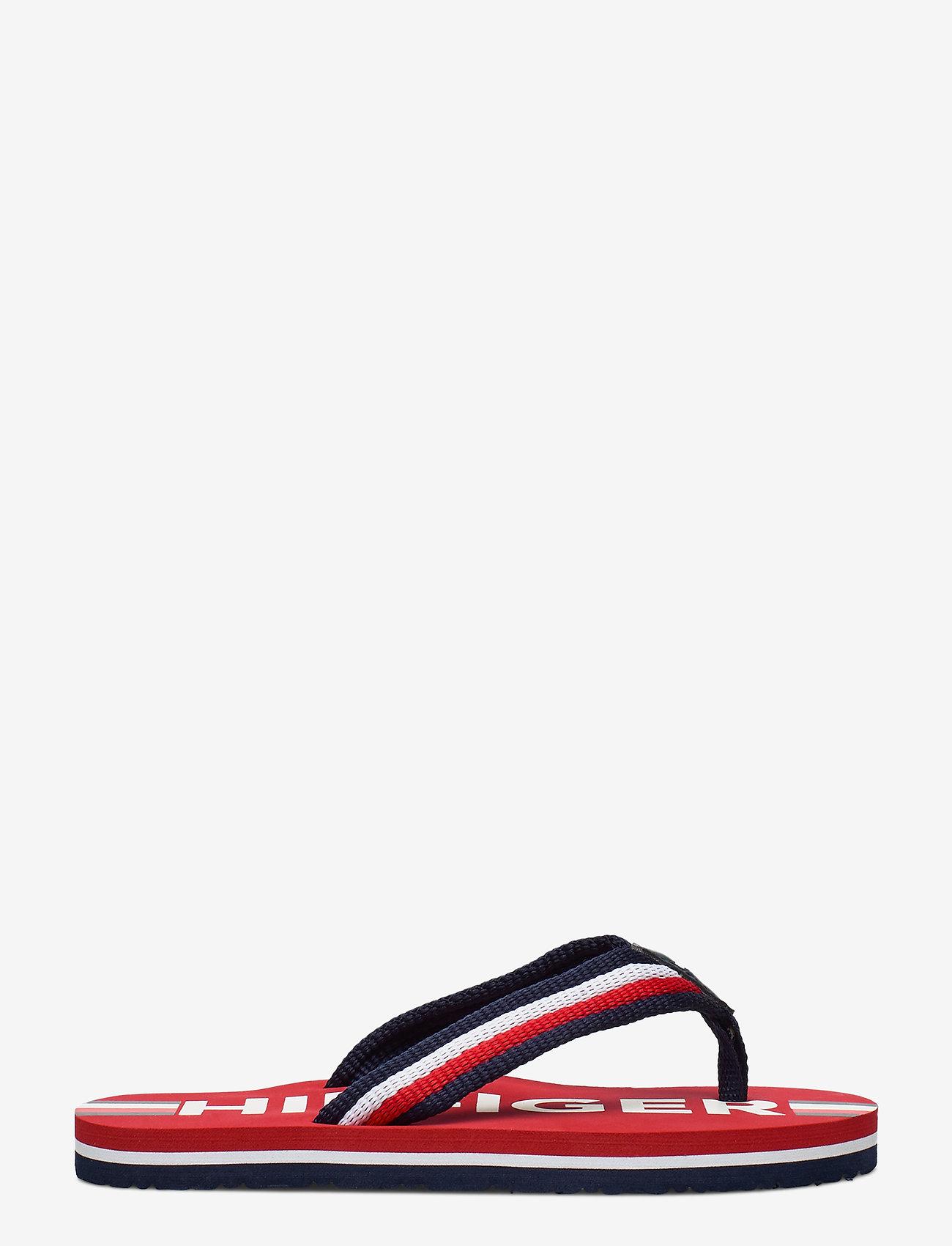 Tommy Hilfiger - MAXI LETTERING PRINT FLIP FLOP - klipklapper & badesko - red/multicolor - 1