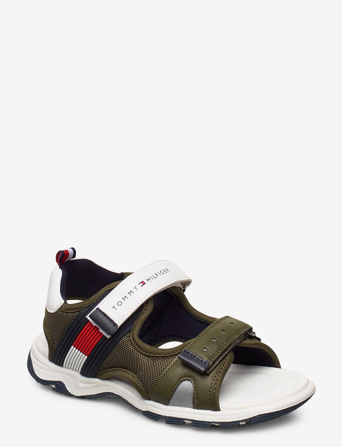 Tommy Hilfiger - VELCRO SANDAL - sandals - military green/white - 0