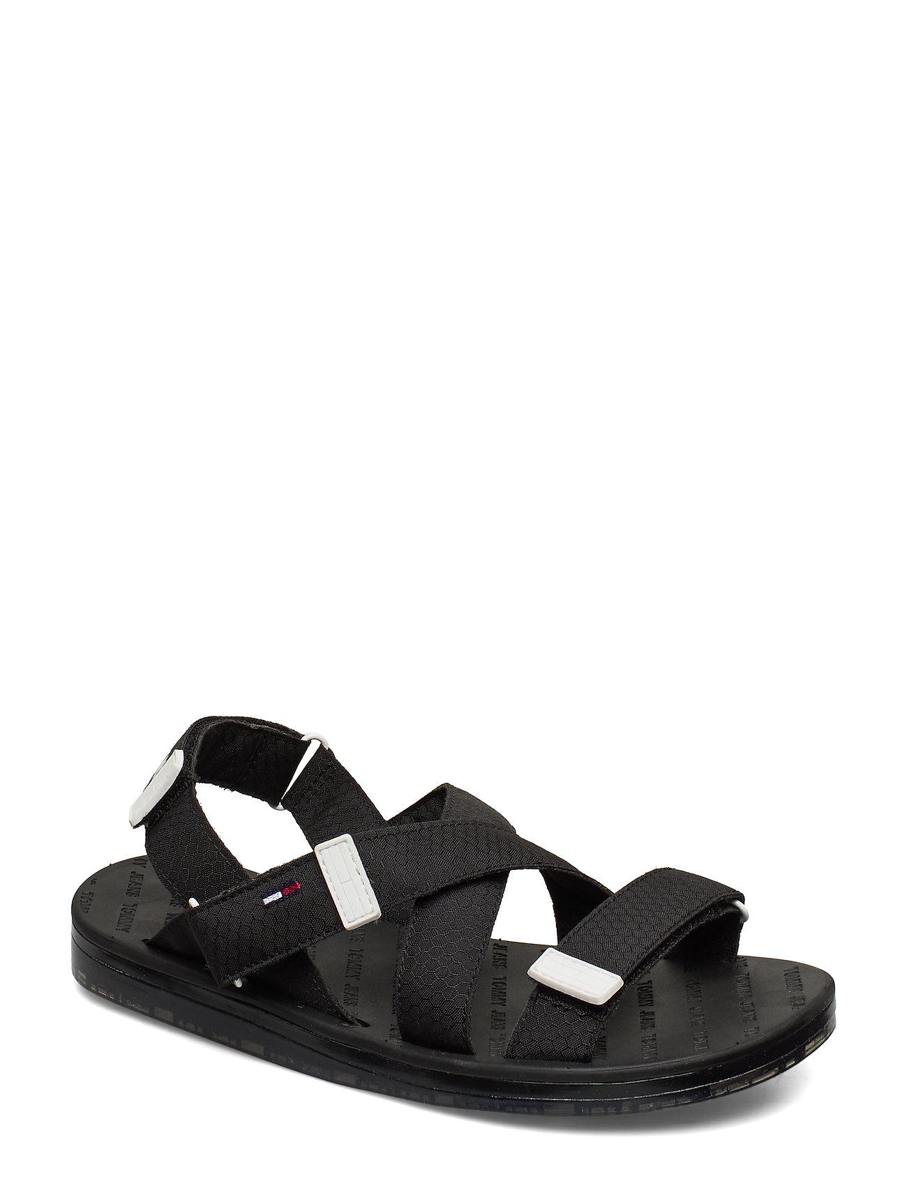 Image of Tommy Surplus Flat Sandal Shoes Summer Shoes Flat Sandals Sort Tommy Hilfiger (3359211163)