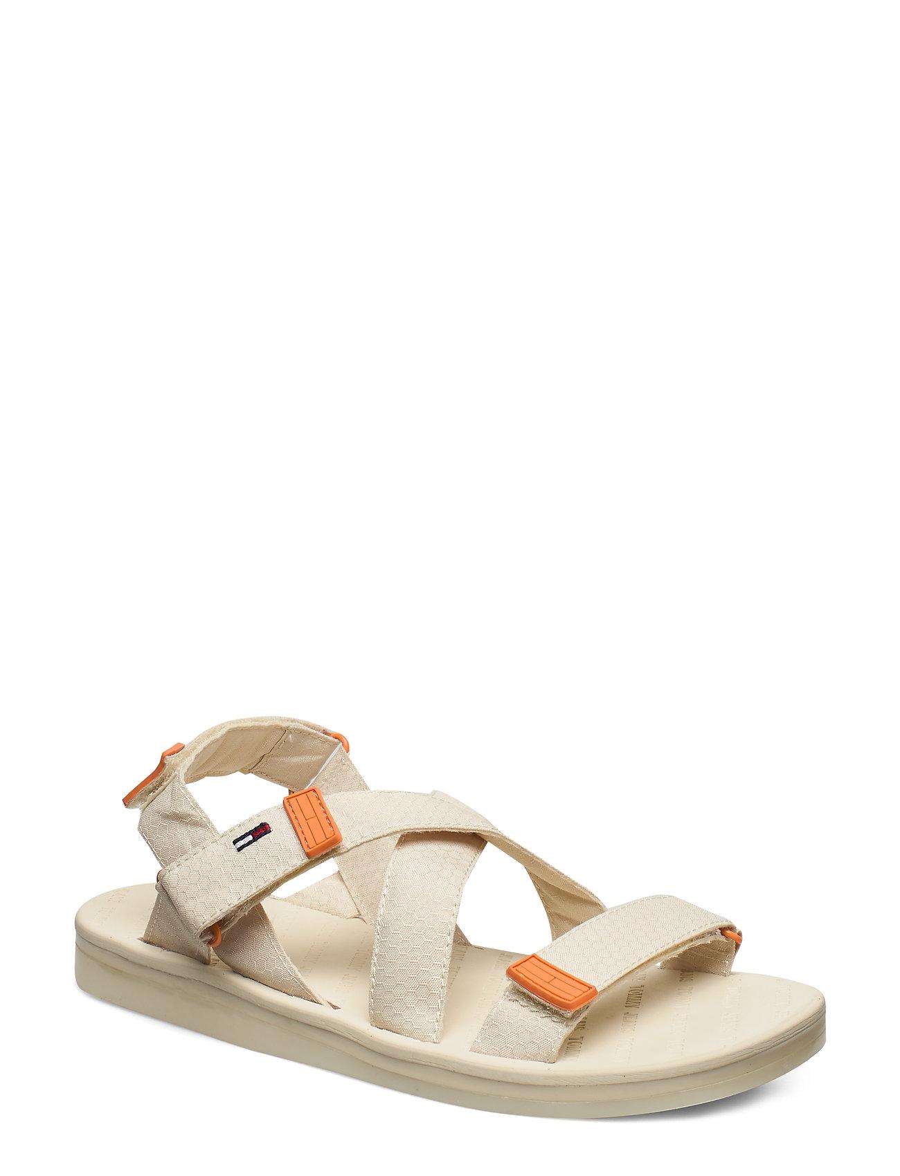 Image of Tommy Surplus Flat Sandal Shoes Summer Shoes Flat Sandals Creme Tommy Hilfiger (3355826805)