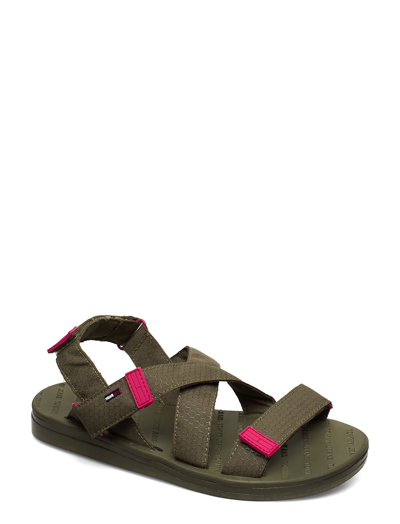Image of Tommy Surplus Flat Sandal Shoes Summer Shoes Flat Sandals Grøn Tommy Hilfiger (3356555367)