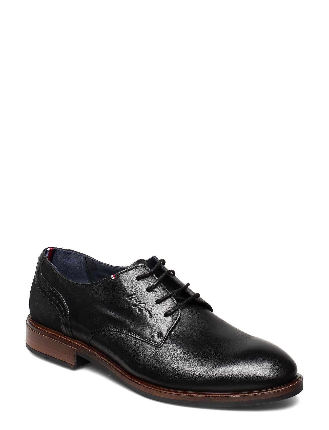 Image of Elevated Leather Mix Shoe Shoes Business Laced Shoes Sort Tommy Hilfiger (3248024035)
