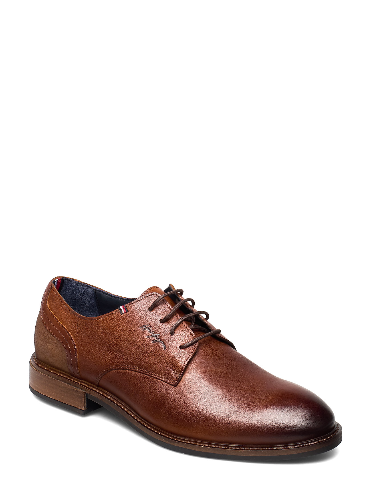 Image of Elevated Leather Mix Shoe Shoes Business Laced Shoes Brun Tommy Hilfiger (3248024033)