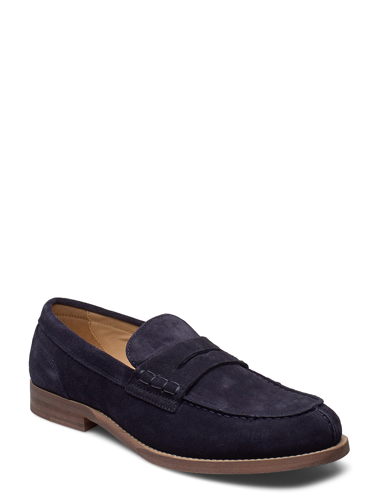Image of Hilfiger Suede Loafer Loafers Flade Sko Blå Tommy Hilfiger (3429250185)