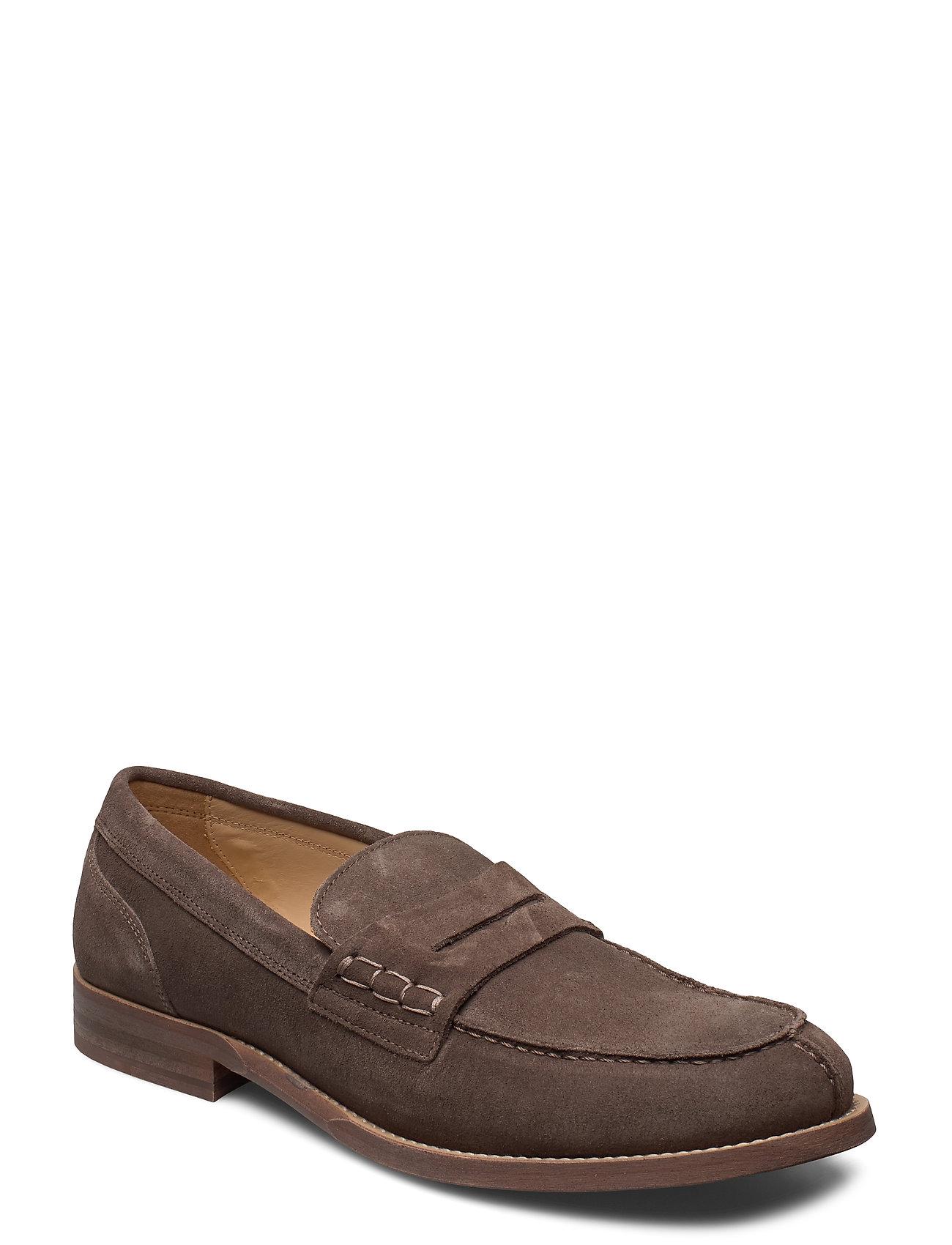 Image of Hilfiger Suede Loafer Loafers Flade Sko Brun Tommy Hilfiger (3429250187)