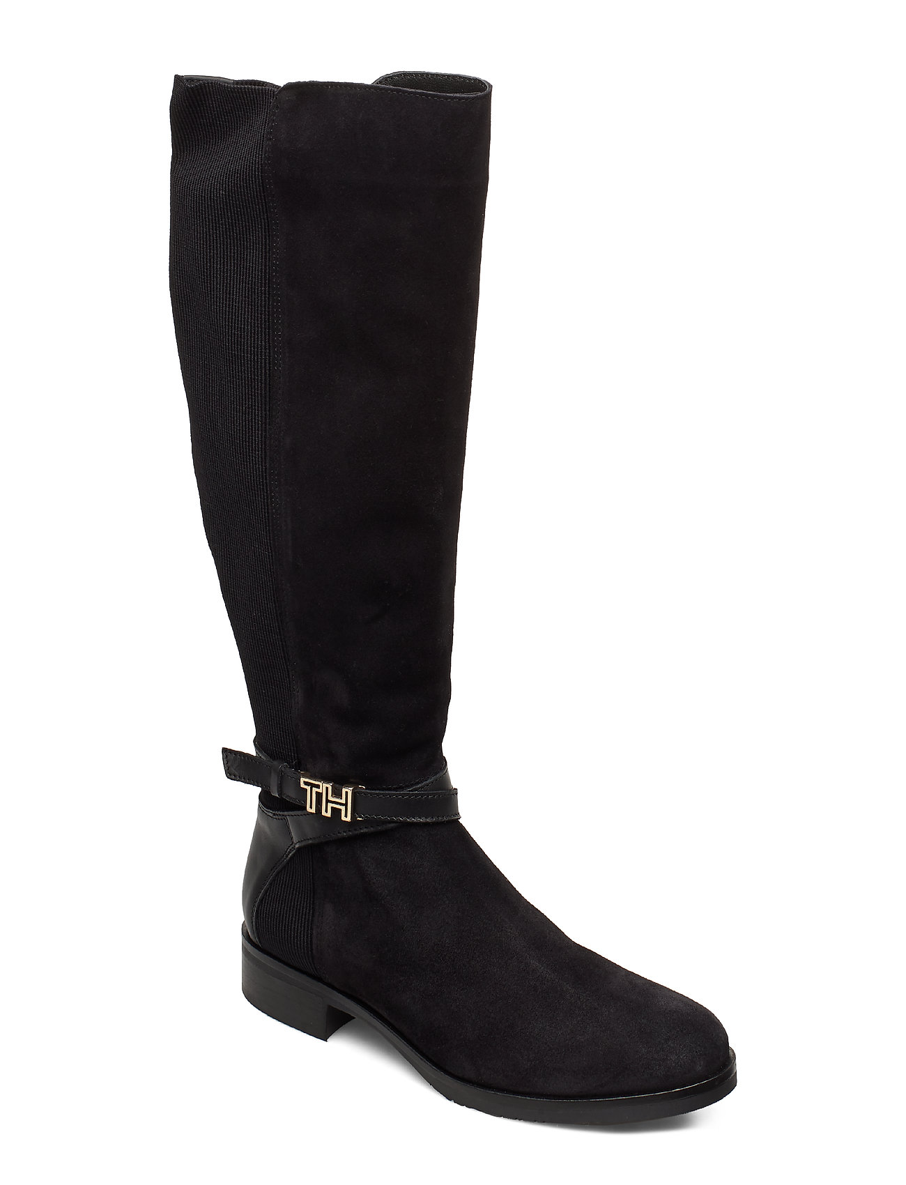 Tommy Hilfiger TH HARDWARE MIX LONGBOOT - BLACK