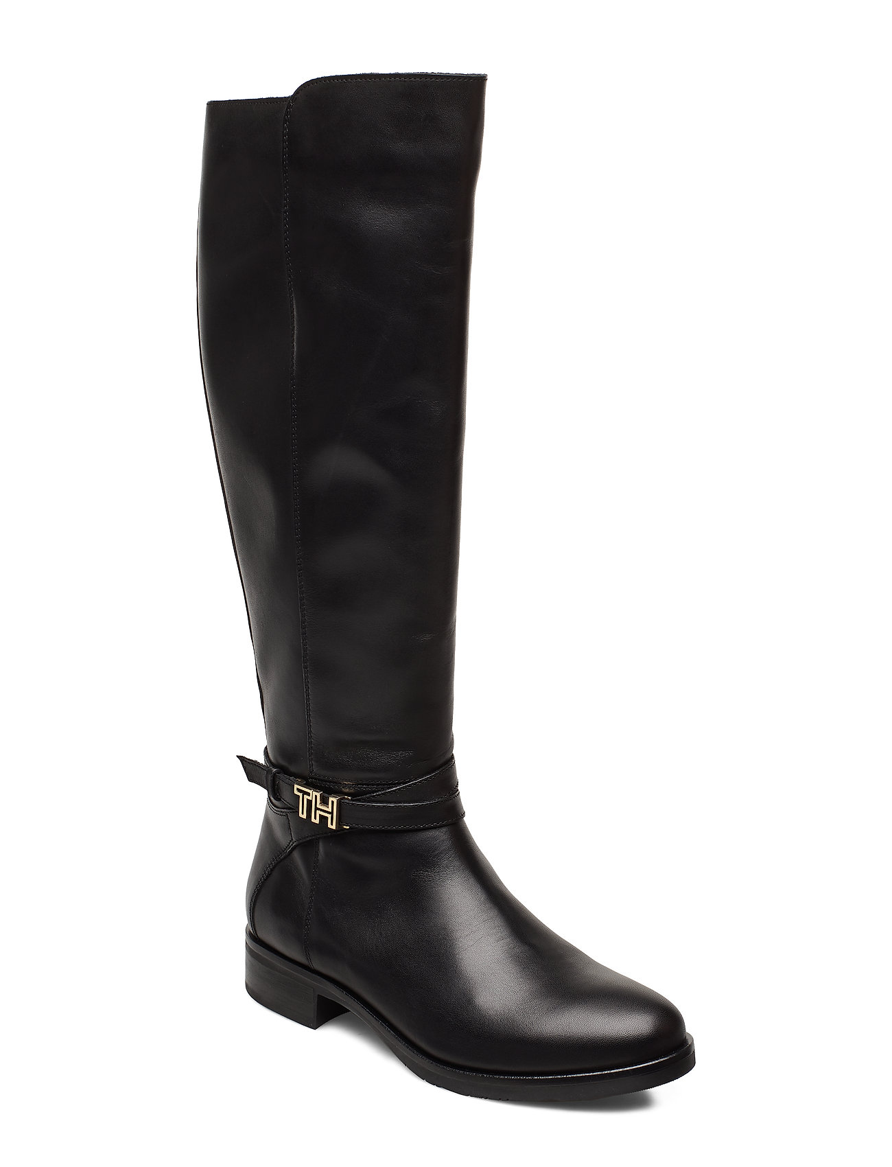 Tommy Hilfiger TH HARDWARE LEATHER LONGBOOT - BLACK