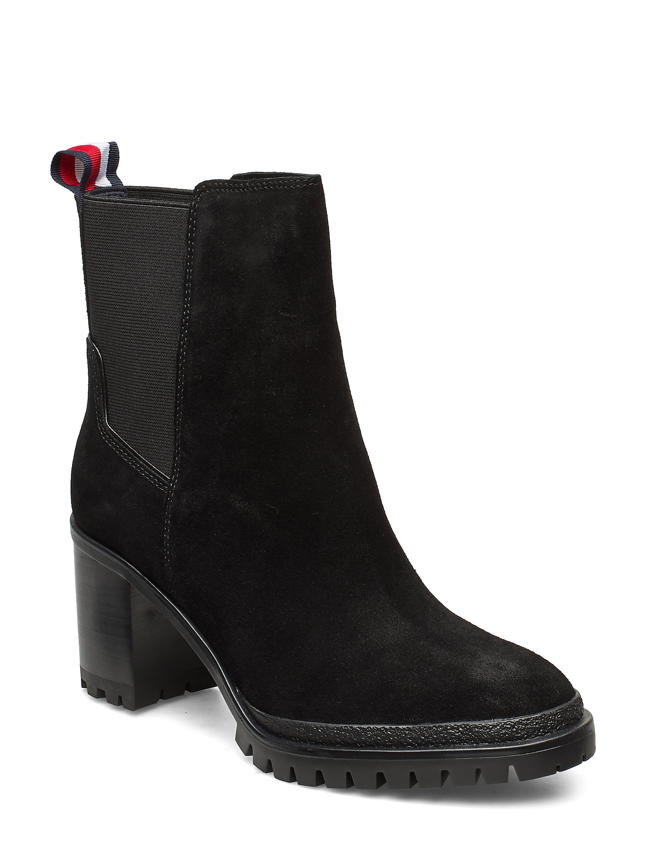 Image of Sporty Mid Heel Chelsea Shoes Boots Ankle Boots Ankle Boots With Heel Sort Tommy Hilfiger (3229252719)