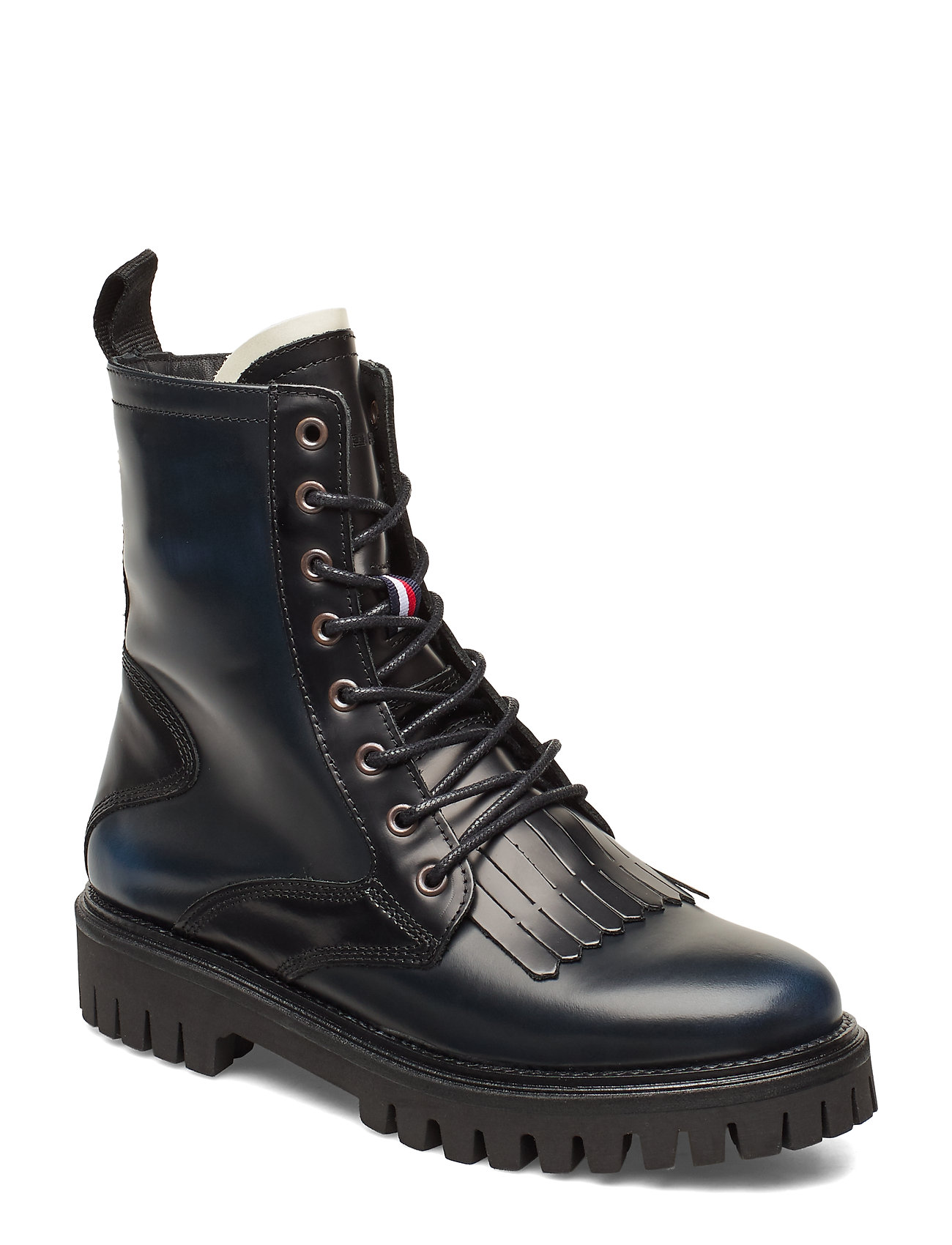 Image of Iconic Polished Boot Shoes Boots Ankle Boots Ankle Boots Flat Heel Sort Tommy Hilfiger (3245421531)