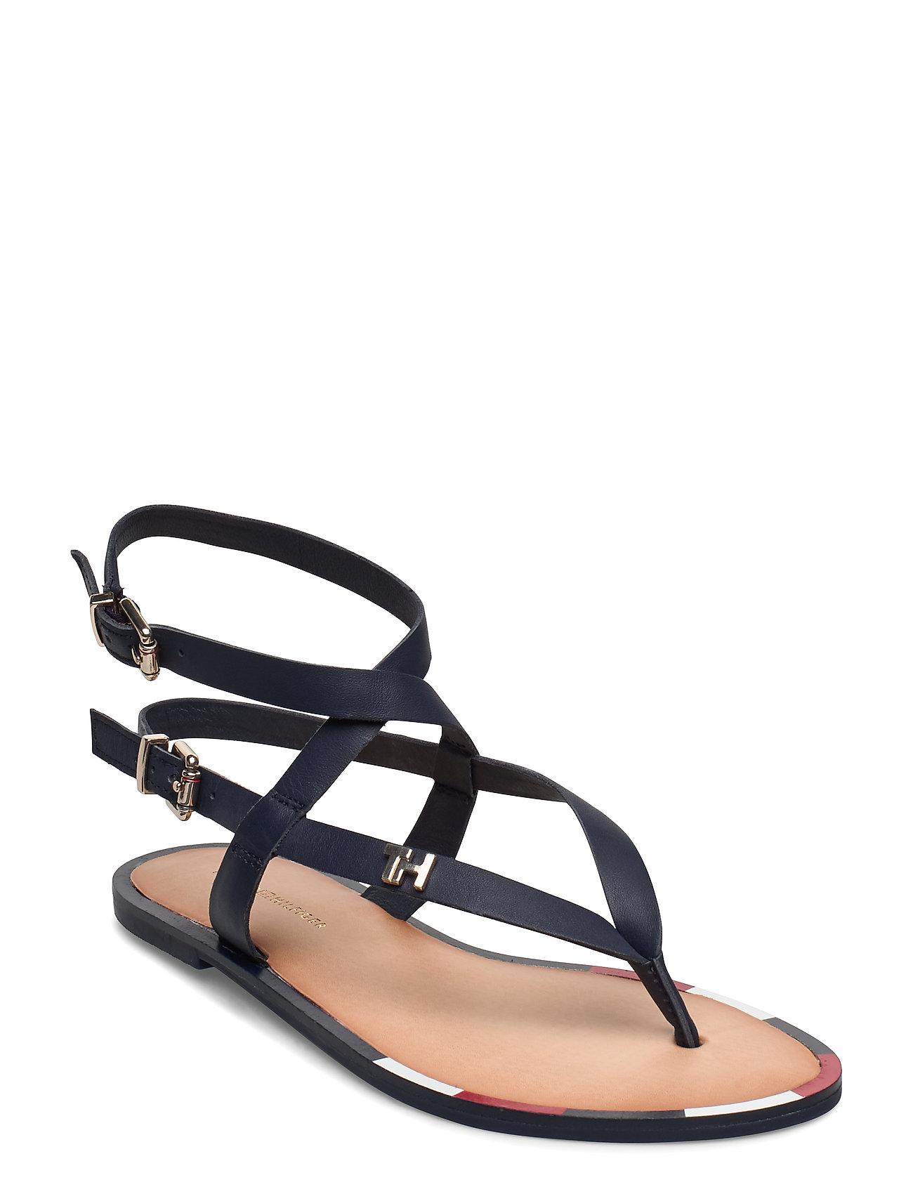 Image of Fem Elastic Flat Sandal Shoes Summer Shoes Flat Sandals Blå Tommy Hilfiger (3377375003)