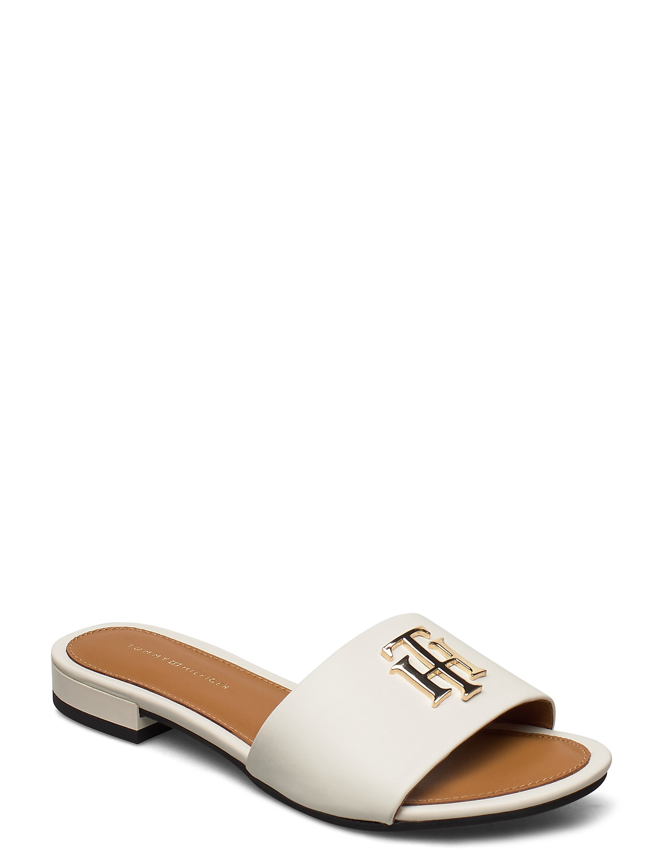 Image of Th Hardware Flat Mule Shoes Summer Shoes Flat Sandals Creme Tommy Hilfiger (3426780611)