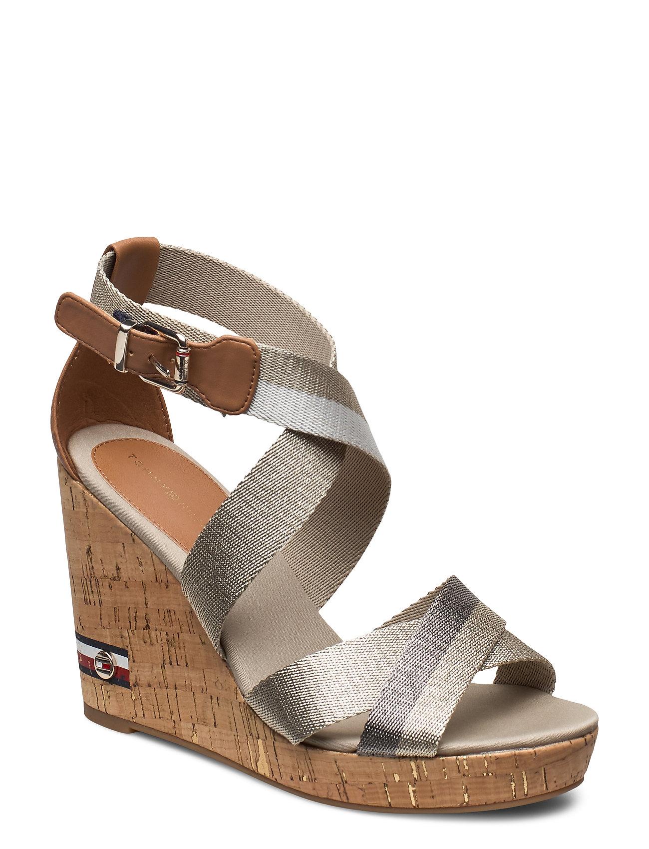 Image of Corporate Th High Wedge Sandal Sandal Med Hæl Sølv Tommy Hilfiger (3429250207)