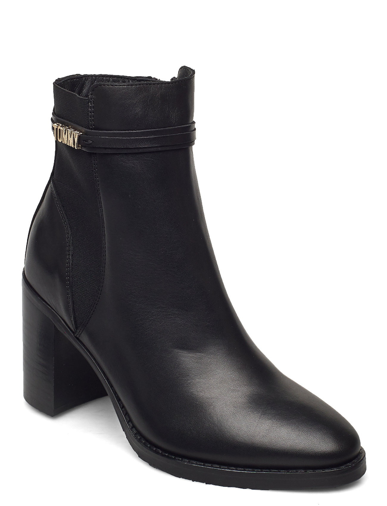 Image of Block Branding High Heel Boot Shoes Boots Ankle Boots Ankle Boot - Heel Sort Tommy Hilfiger (3453533217)